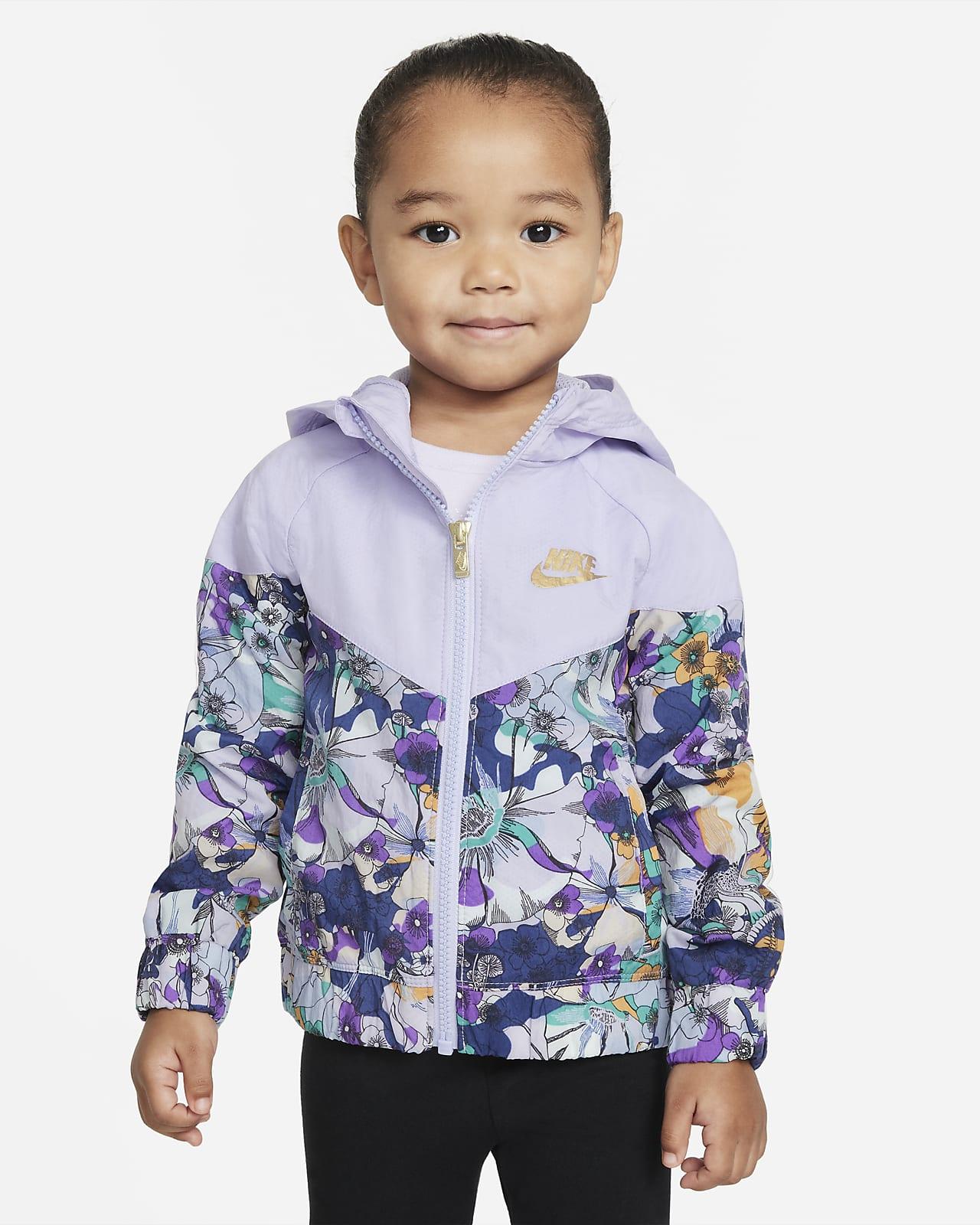 Chamarra infantil impresa con cierre completo Nike Sportswear Windrunner
