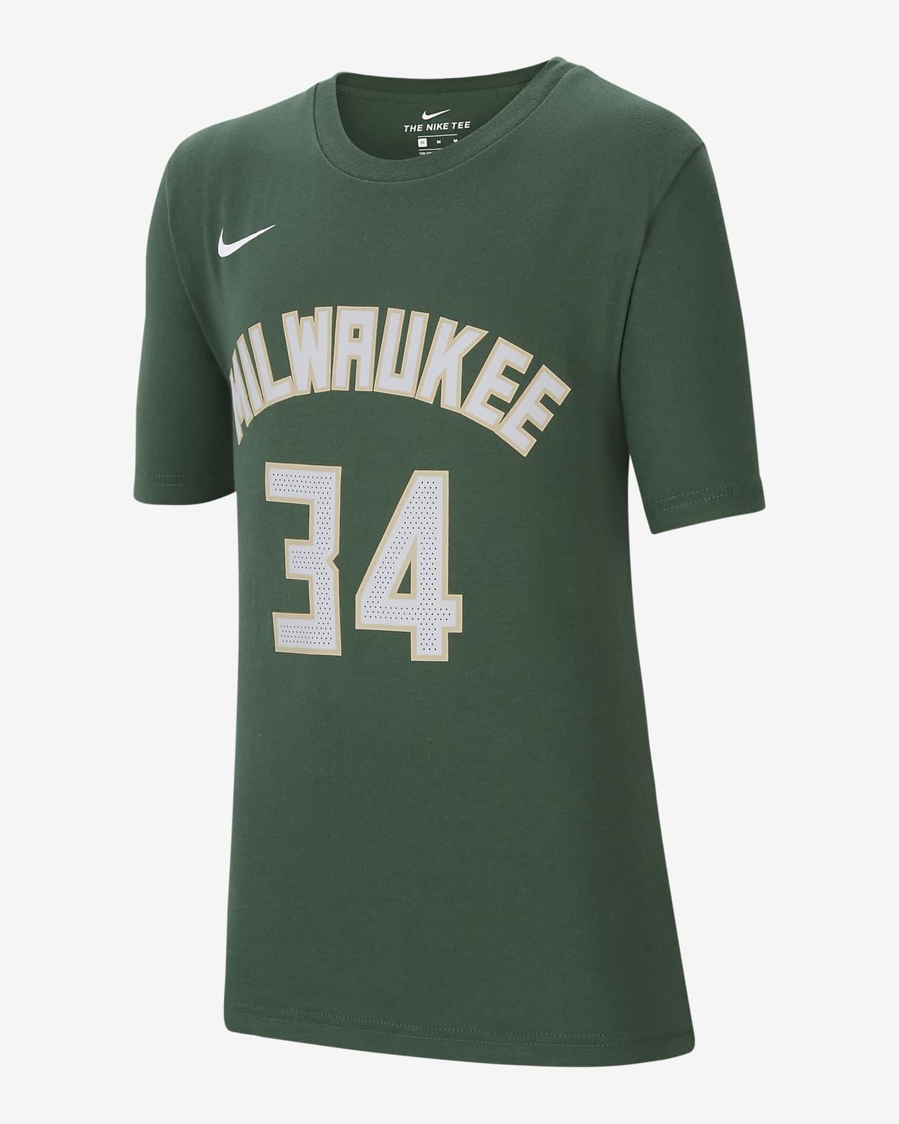 T-shirt dla dużych dzieci Nike Dri-FIT NBA Milwaukee Bucks