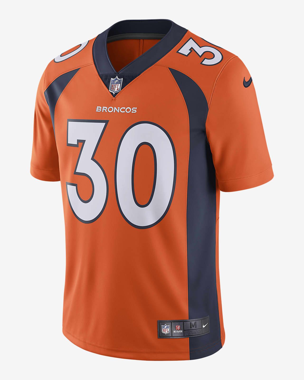 NFL Denver Broncos (Phillip Lindsay) Men's Limited Vapor Untouchable Football Jersey