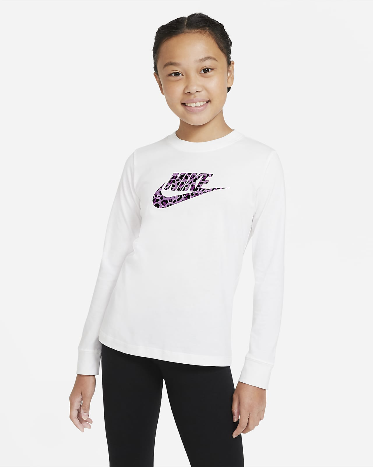 Nike Sportswear Older Kids' (Girls') Long-Sleeve T-Shirt