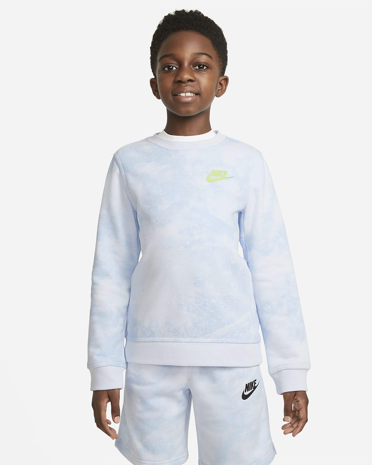 Nike Sportswear Magic Club Batik Boyalı Genç Çocuk (Erkek) Crew Üst