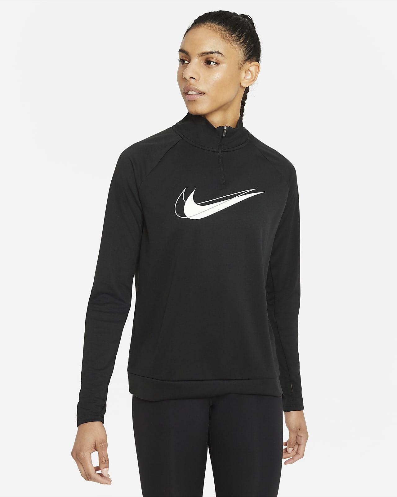 Haut de running intermédiaire à demi-zip Nike Dri-FIT Swoosh Run pour Femme