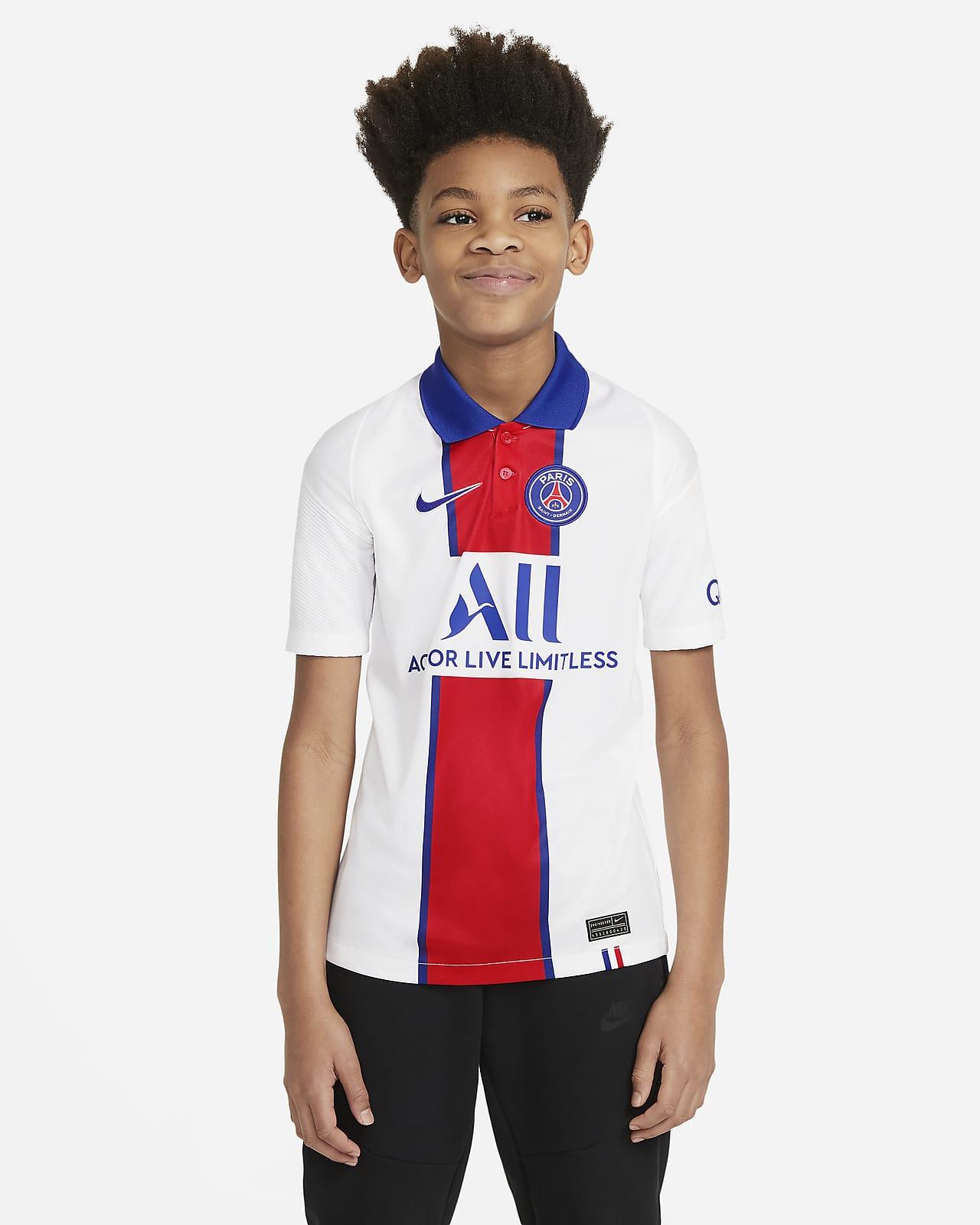 Jersey de fútbol de visitante del Paris Saint-Germain visitante 2020/21 Stadium para niños talla grande