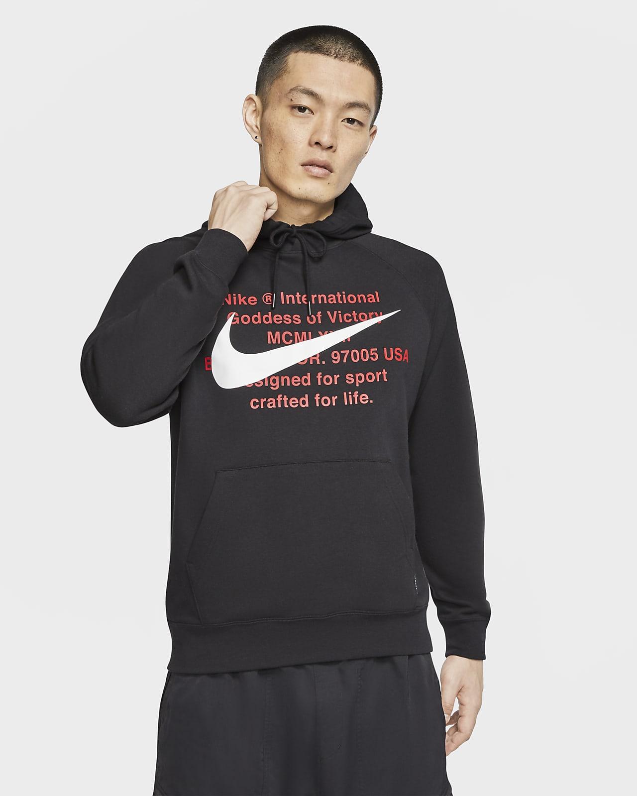 Huvtröja i frotté Nike Sportswear Swoosh för män