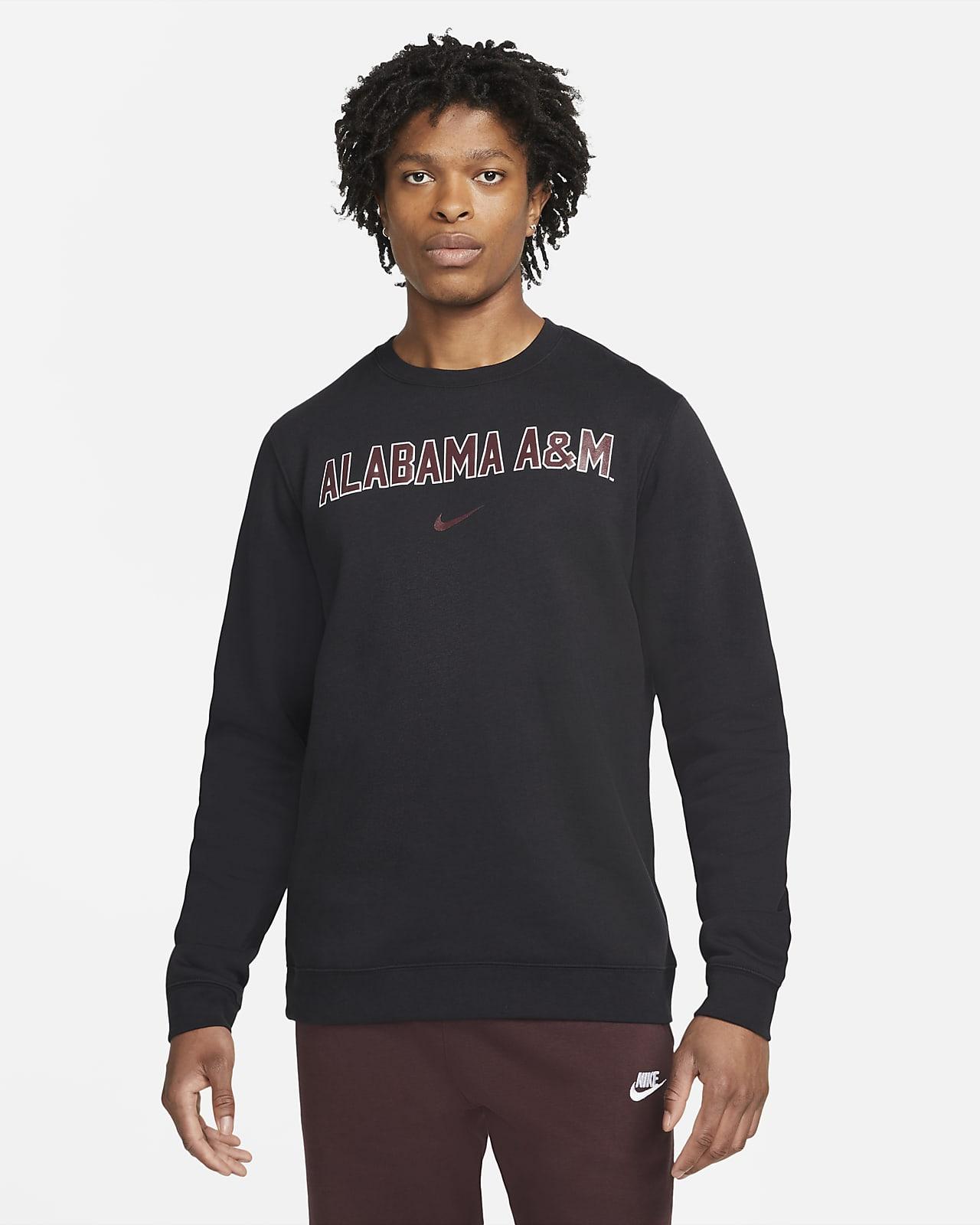 Nike College Club Fleece (Alabama A&M) Crew Sweatshirt