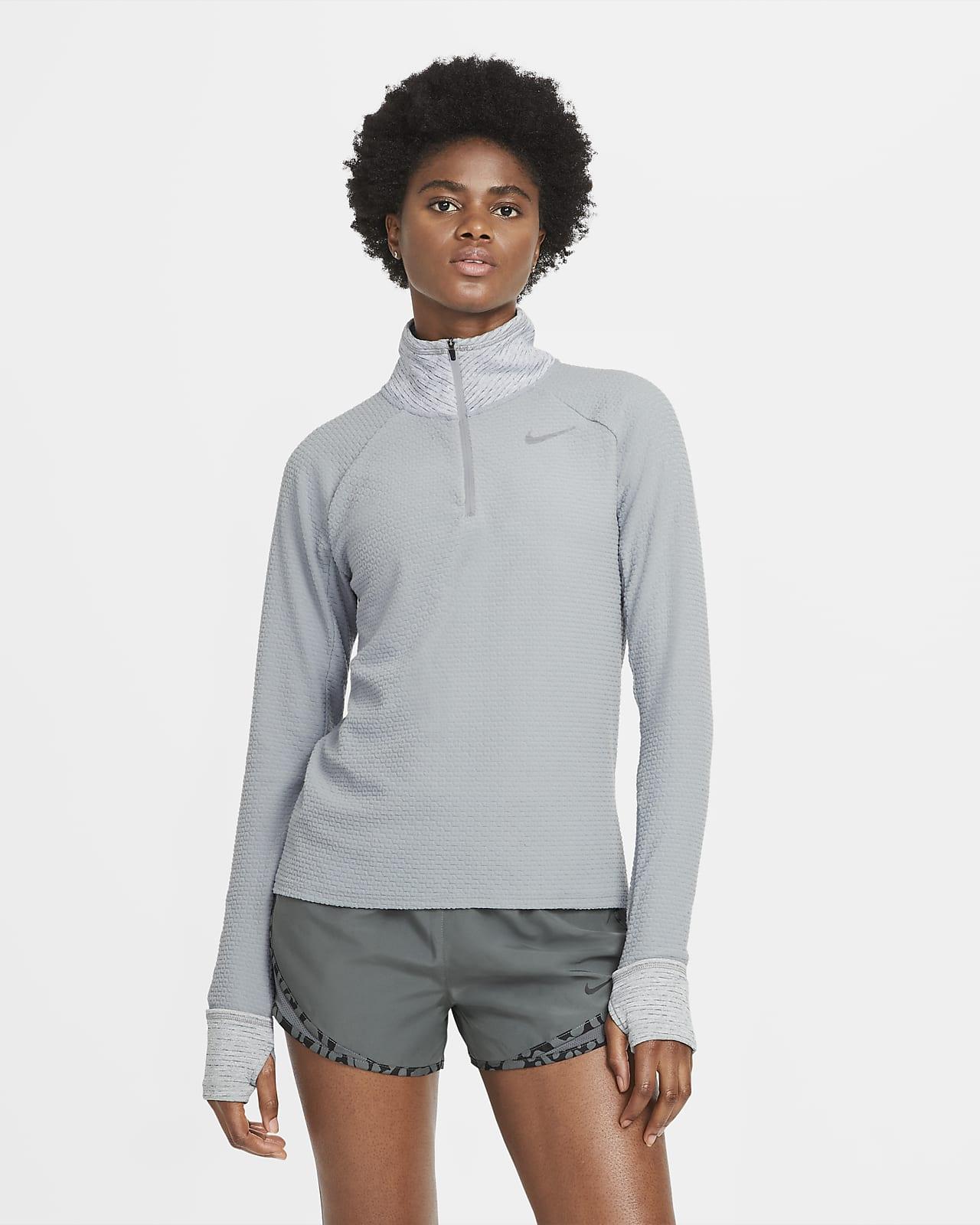 Nike Sphere løpetrøye med glidelås i halsen til dame
