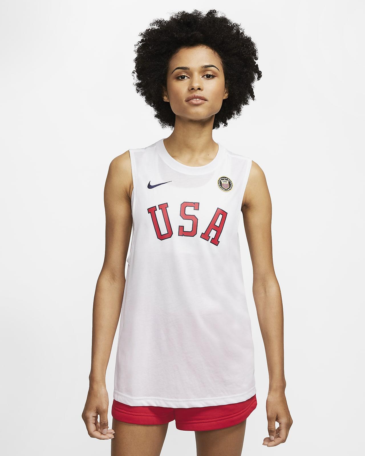 Camiseta de tirantes de entrenamiento para mujer Nike Dri-FIT Team USA