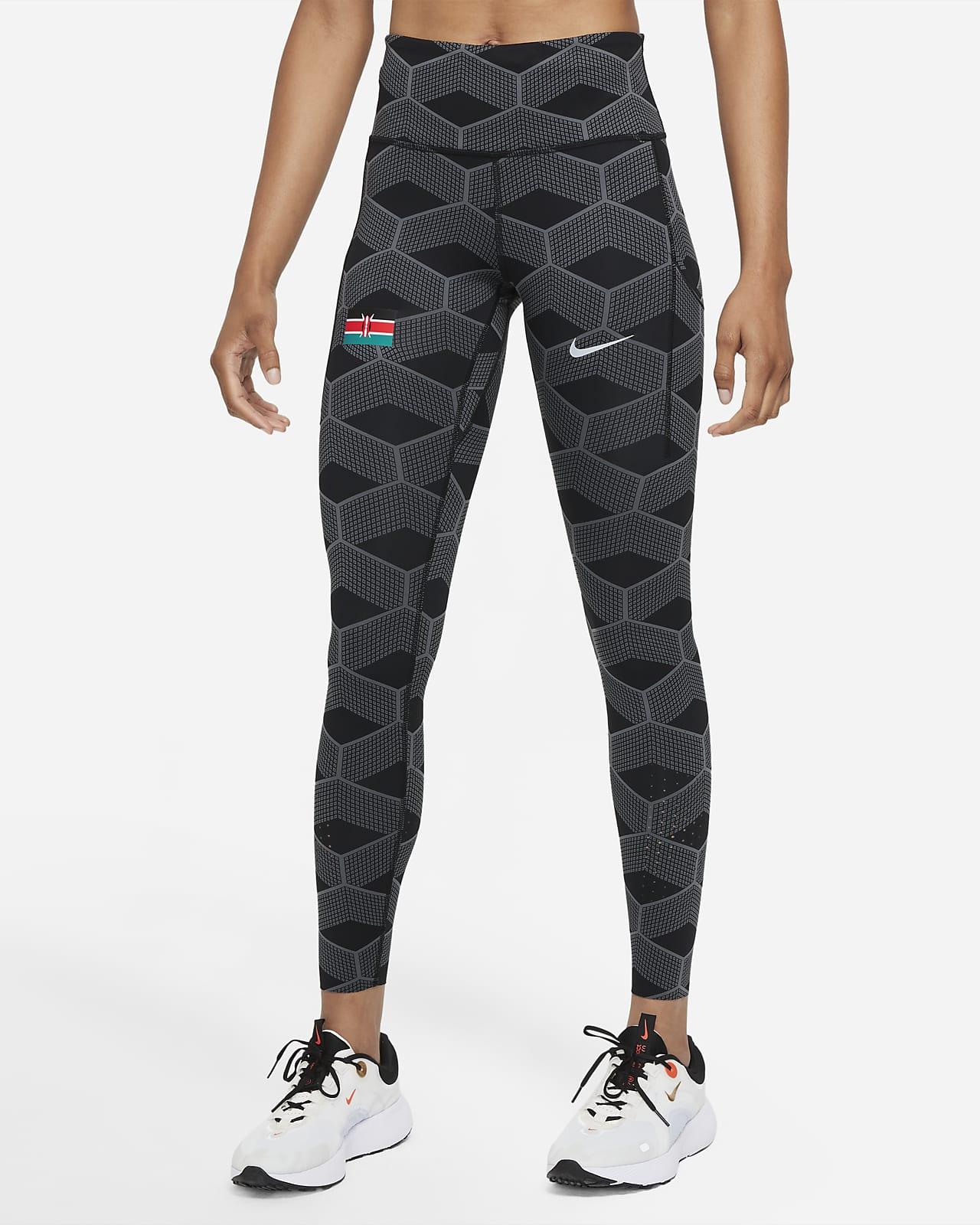 Nike Team Kenya Epic Luxe løpeleggings med mellomhøyt liv til dame