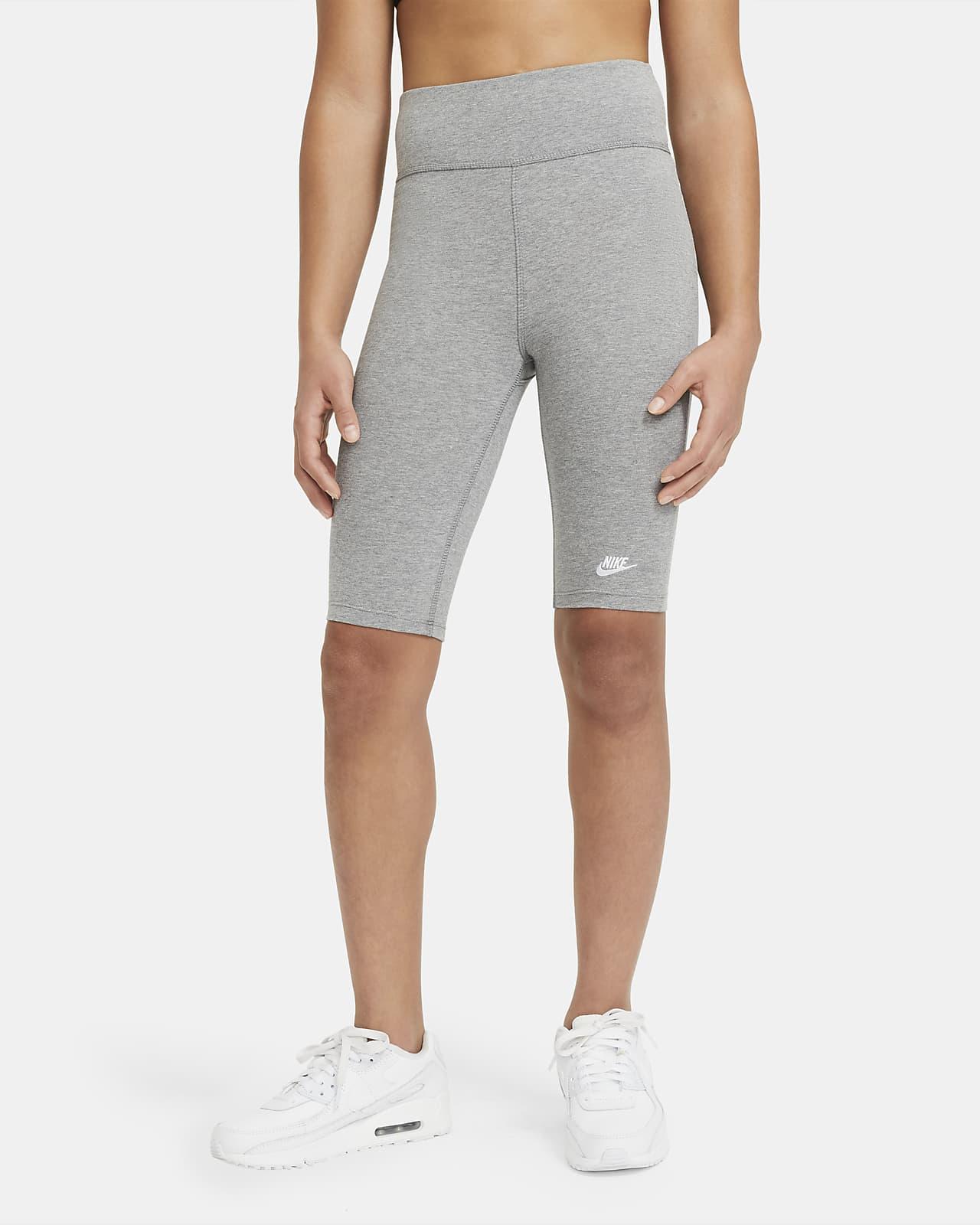 Shorts de ciclismo de tiro alto de 23 cm para niña talla grande Nike Sportswear