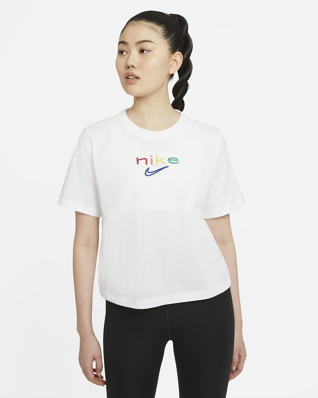 Nike Dri-FIT Boxy Rainbow 女子训练T恤