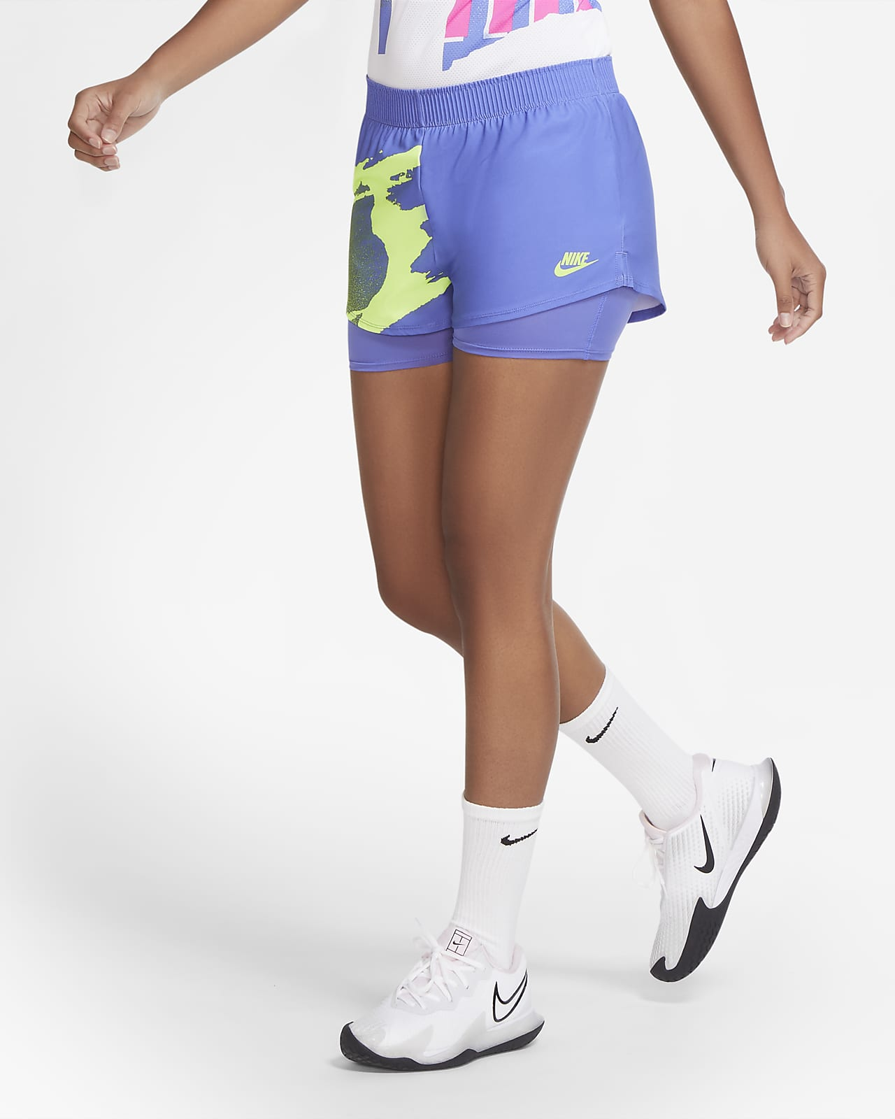 NikeCourt Slam Damen-Tennisshorts