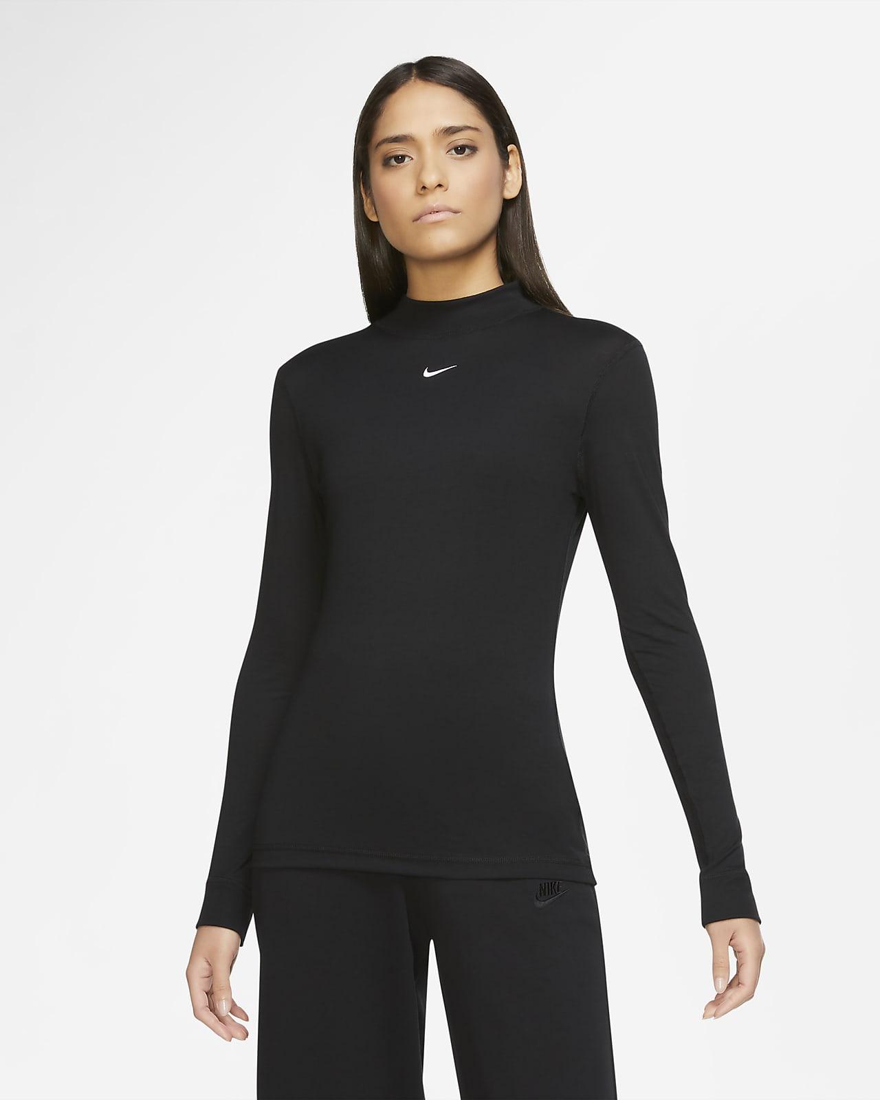 Nike Sportswear Damestop met hoge kraag en lange mouwen