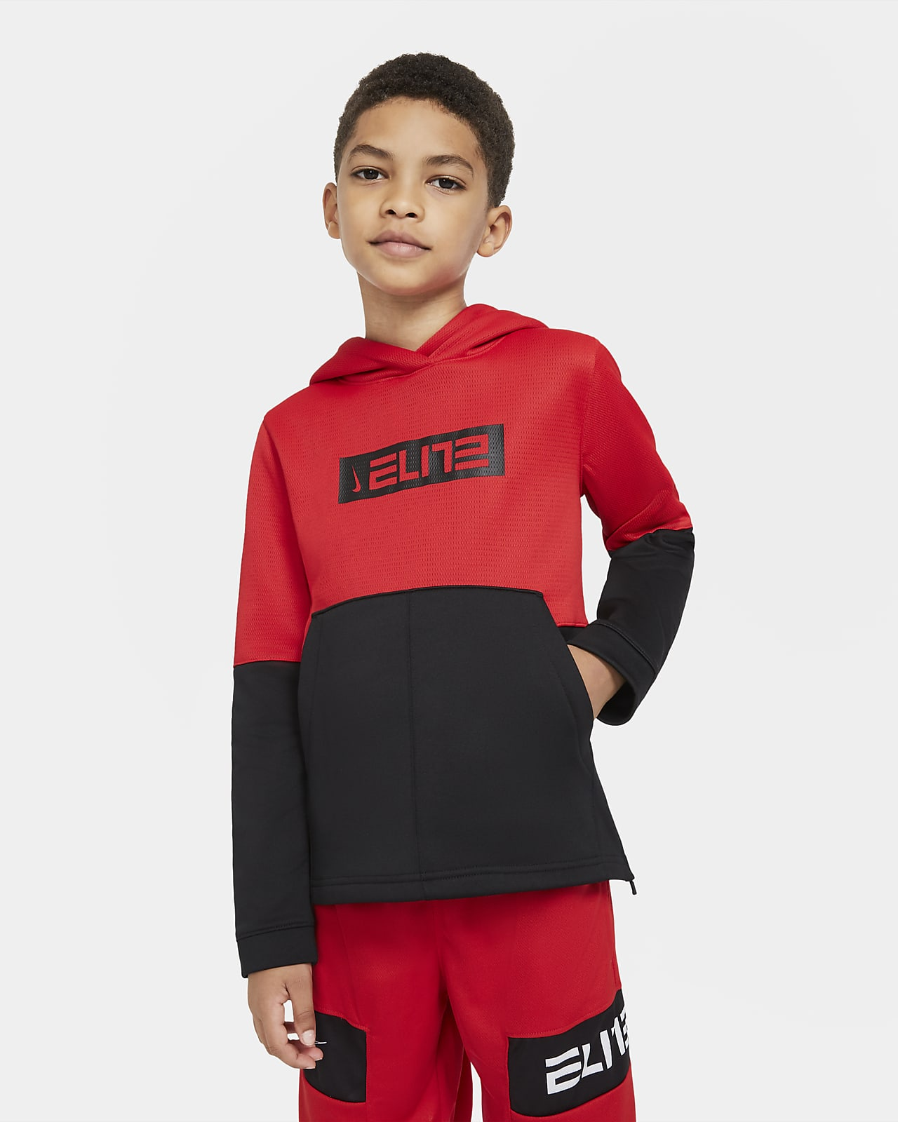 Nike Therma Elite Big Kids' Pullover Basketball Hoodie
