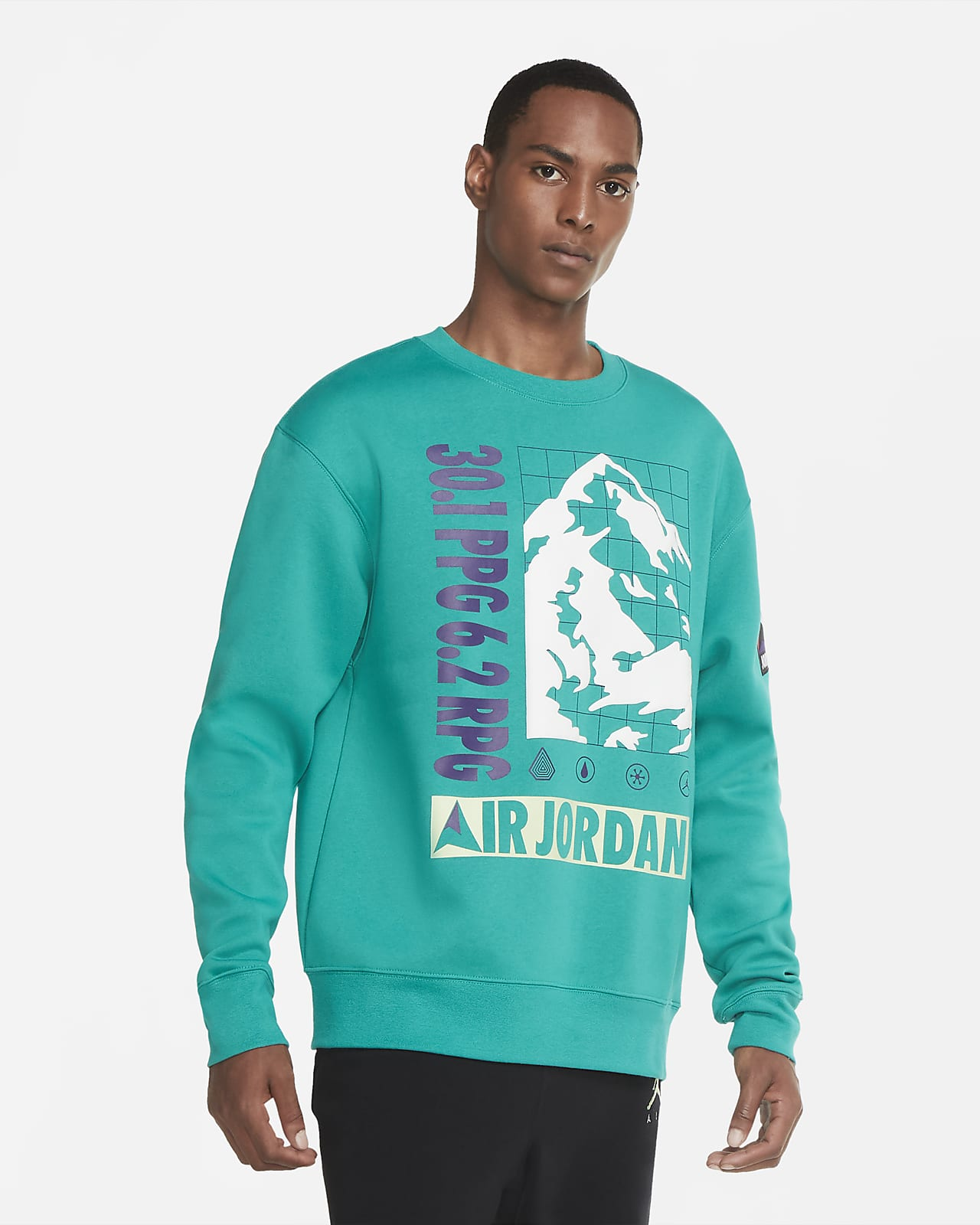 Haut en tissu Fleece Jordan Winter Utility pour Homme