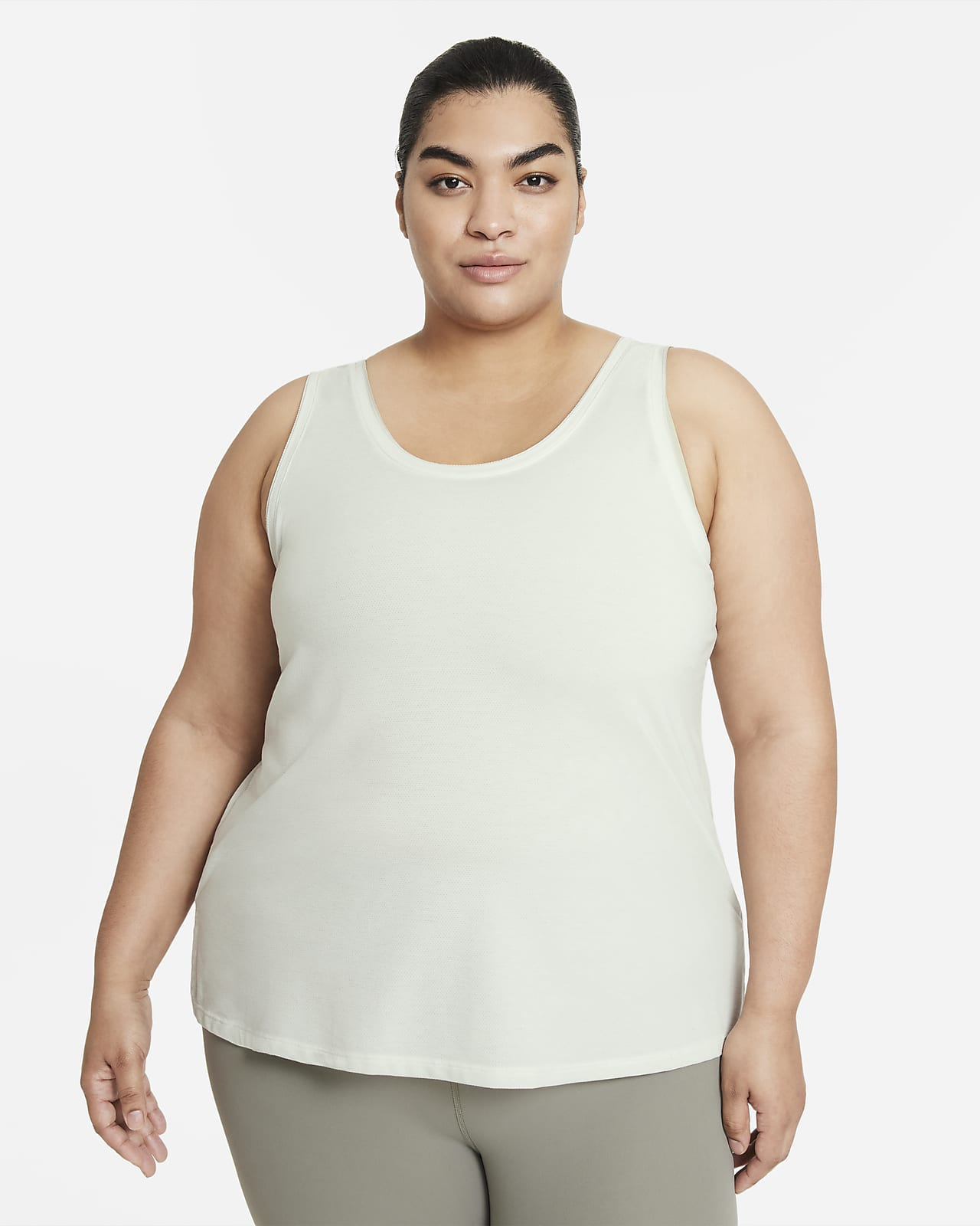 Camiseta de tirantes con teñido especial para mujer talla grande Nike Yoga Dri-FIT