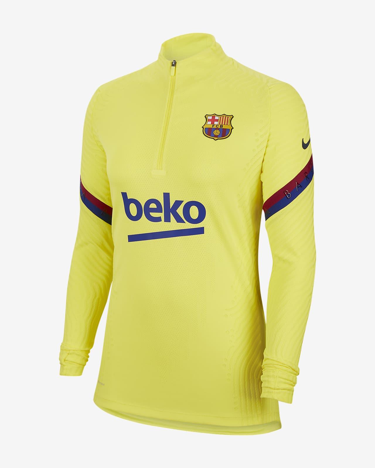 Haut d'entraînement de football Nike VaporKnit FC Barcelona Strike pour Femme