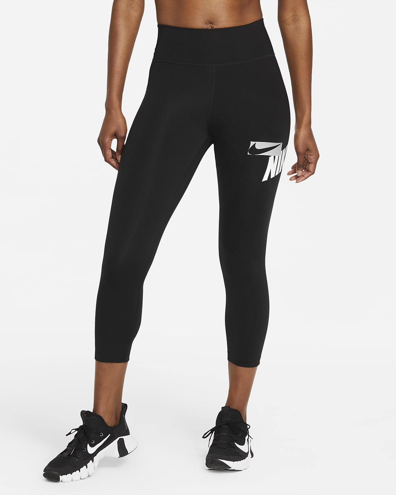 Nike One 女子印花中长紧身裤