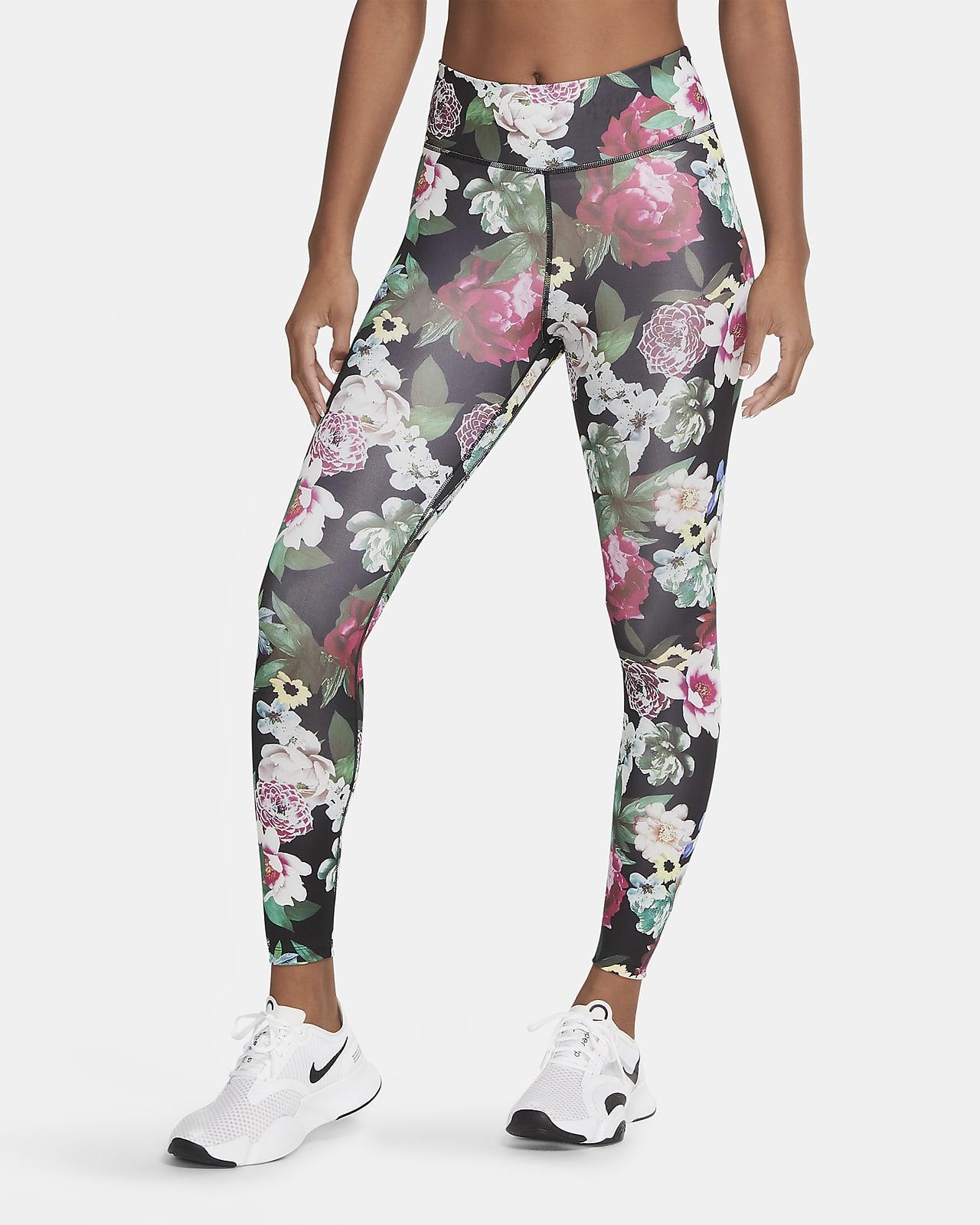 Leggings de 7/8 de acabado floral para mujer Nike One