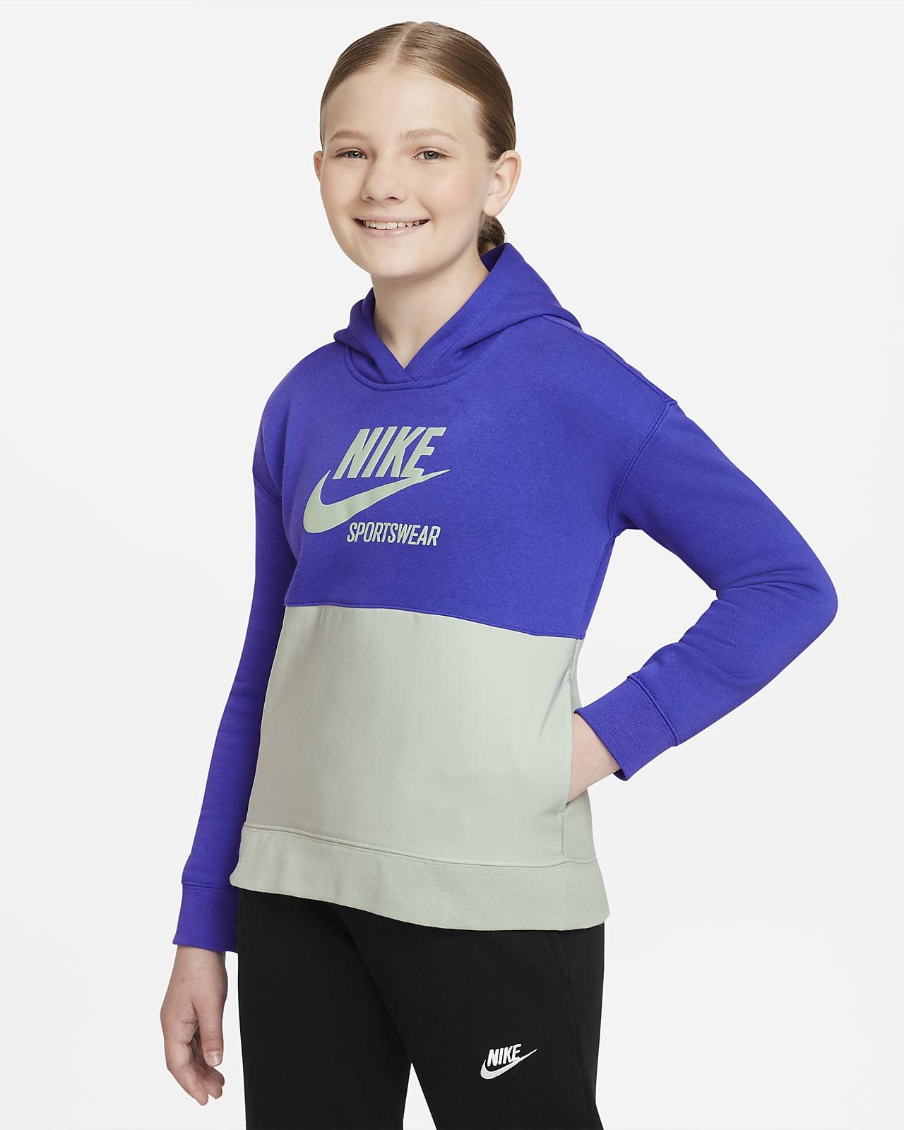 Nike Sportswear Heritage Big Kids' (Girls') French Terry Hoodie
