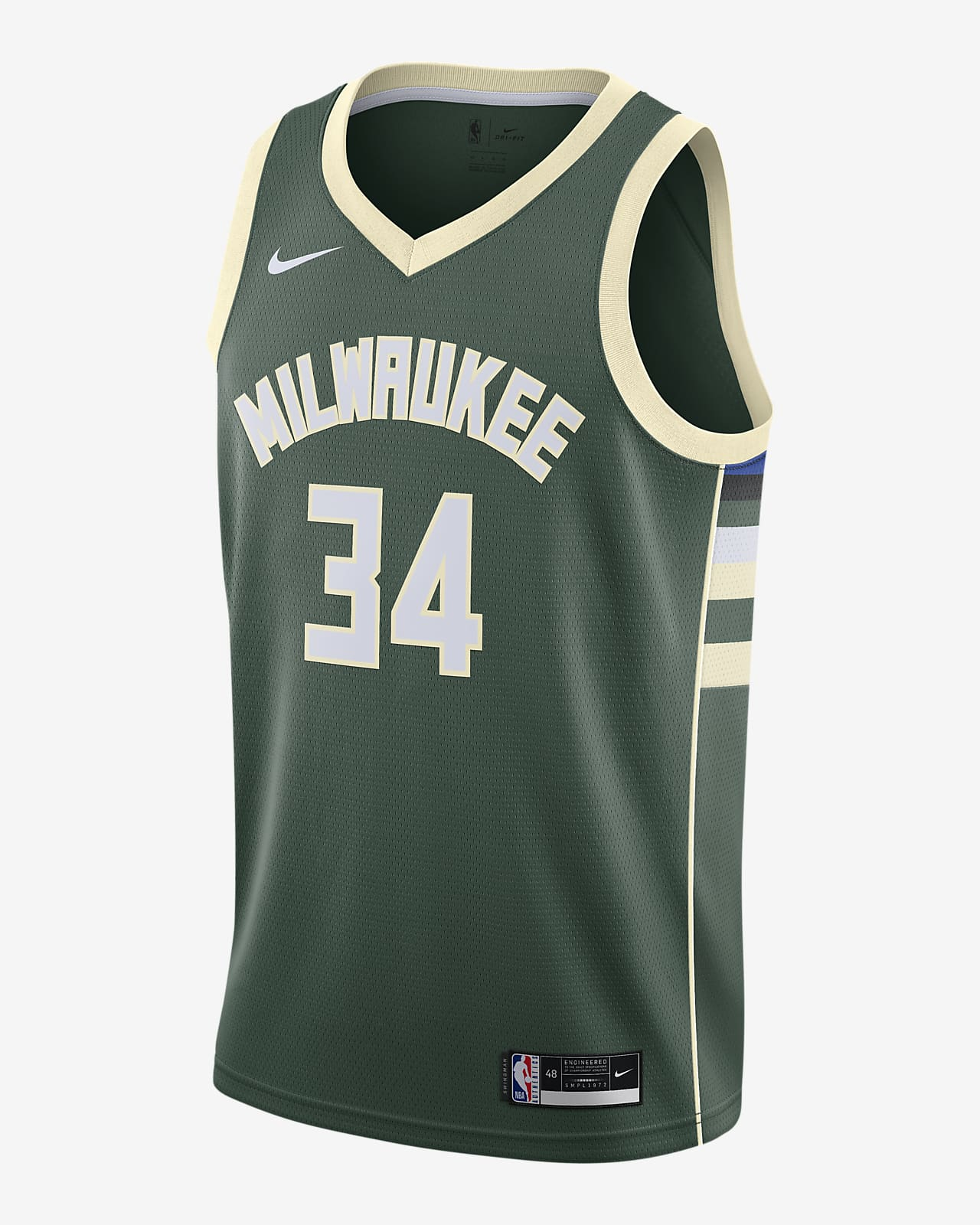 Giannis Antetokounmpo Bucks Icon Edition 2020 Nike NBA Swingman-trøje