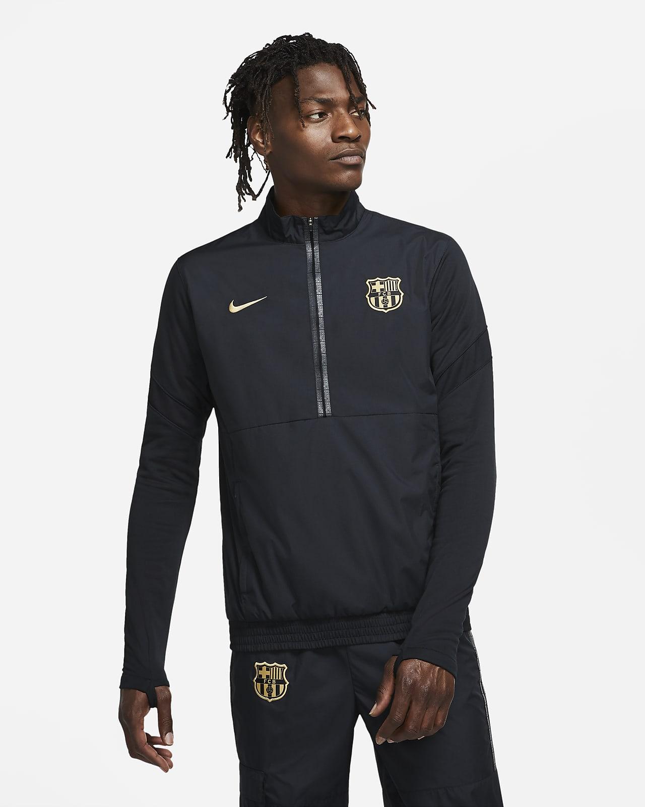 FC Barcelona Men's 1/2-Zip Woven Soccer Track Jacket