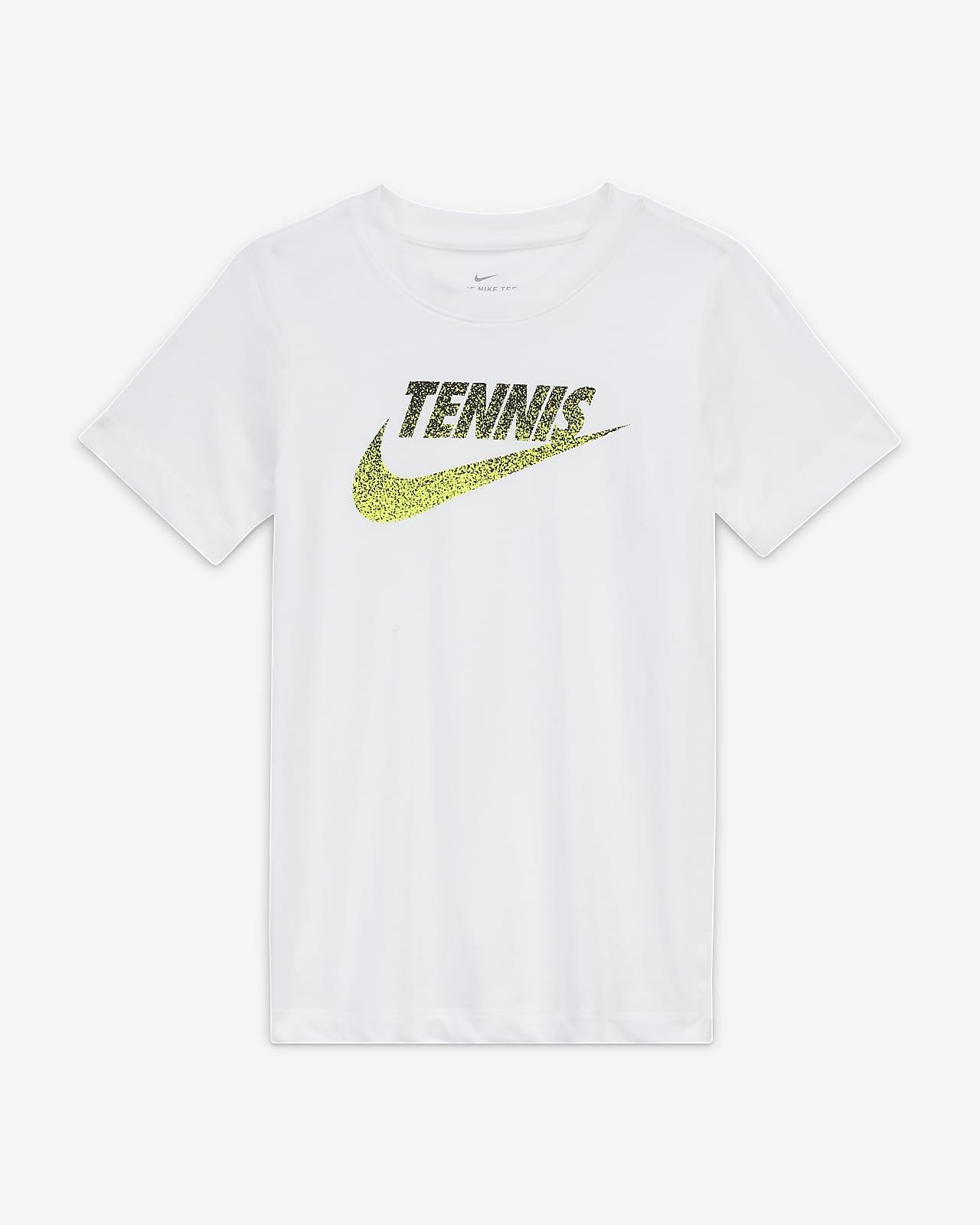 Tee shirt de tennis à motif NikeCourt pour Enfant plus âgé