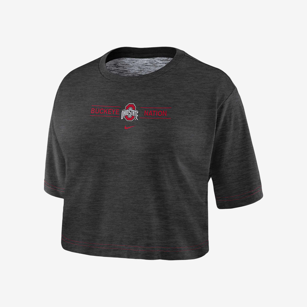 Nike College Dri-FIT (Ohio State) Women's Cropped T-Shirt