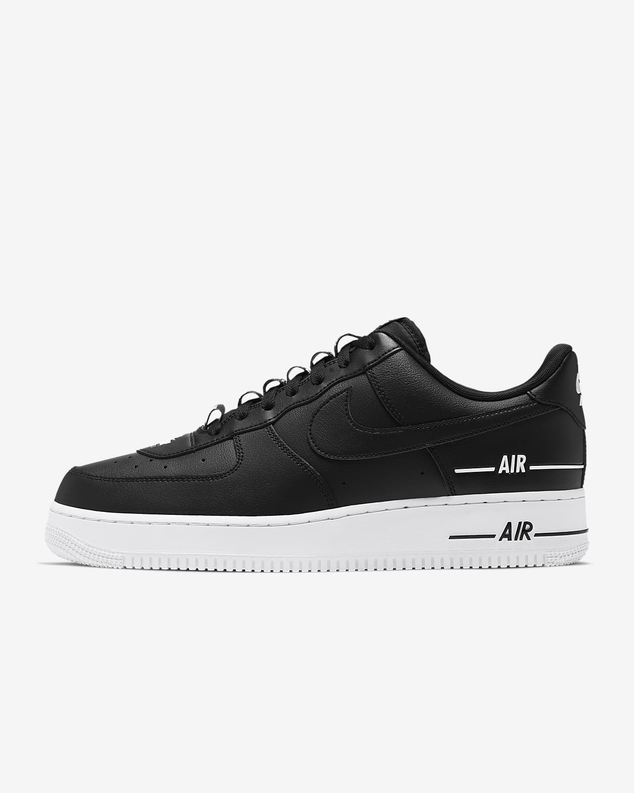 all black and white air force 1