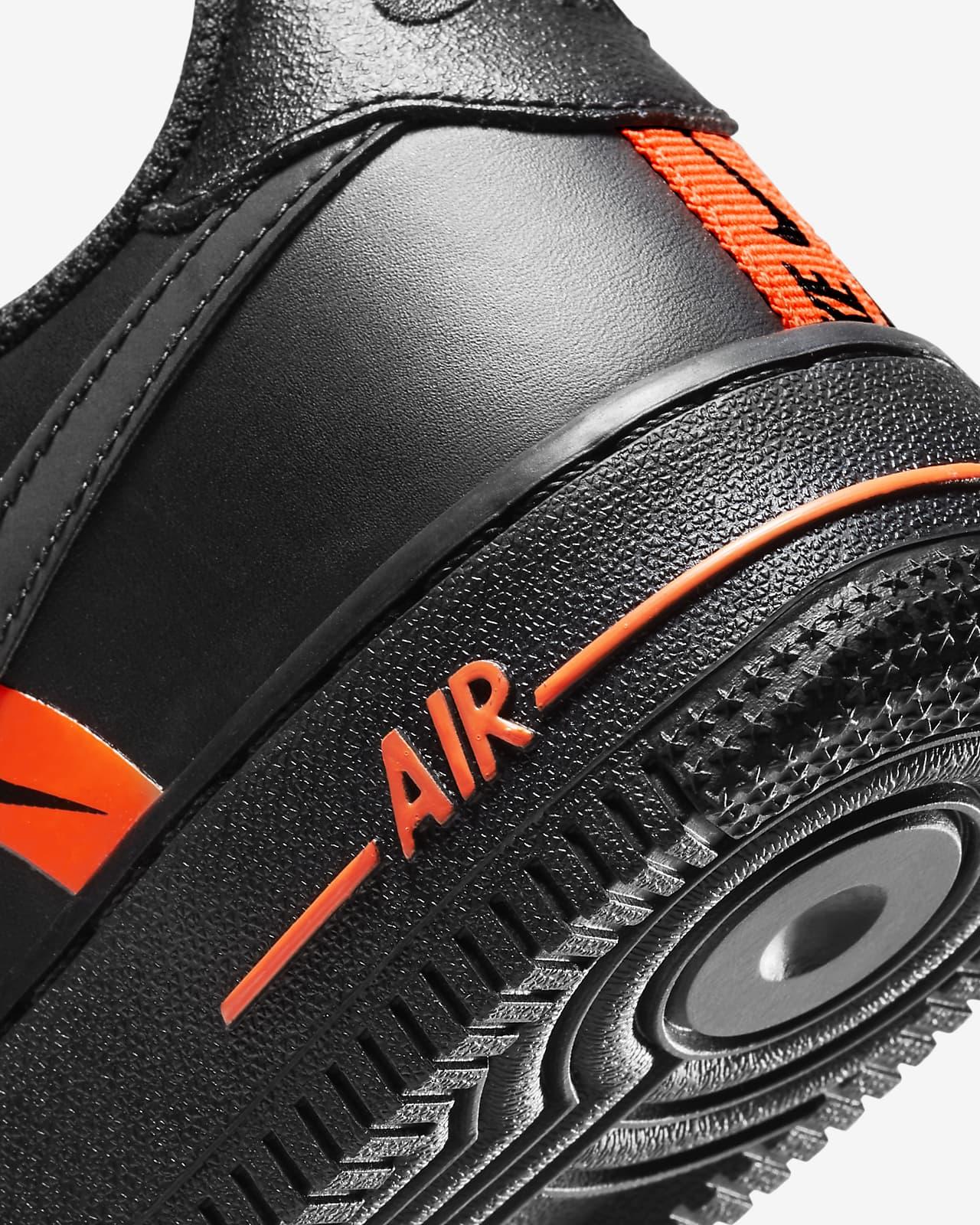 air force 1 enfant noir et orange