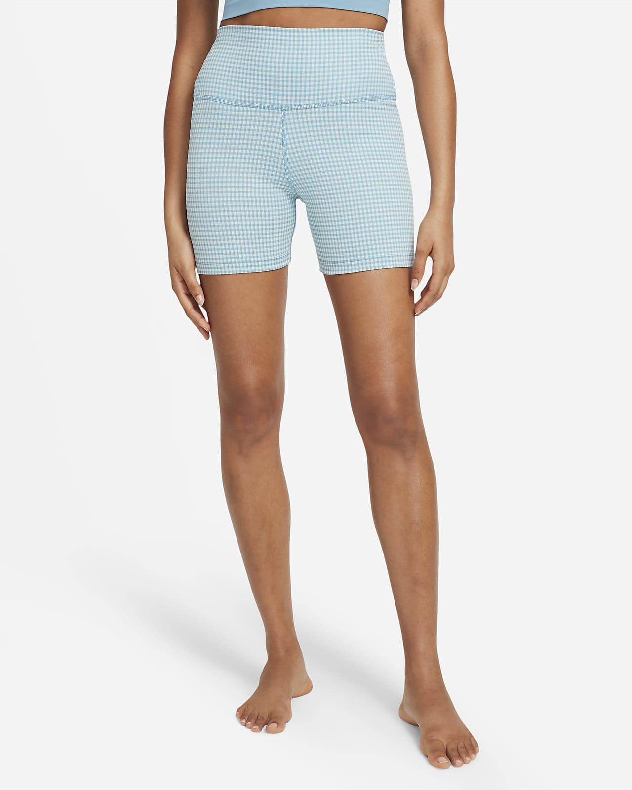 Shorts a cuadros para mujer Nike Yoga