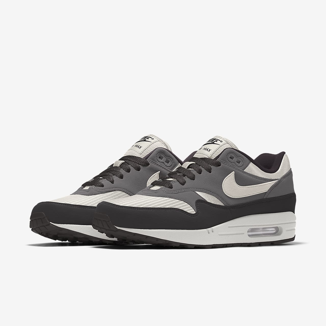 nike aire max 1 sneakers basse homme noir