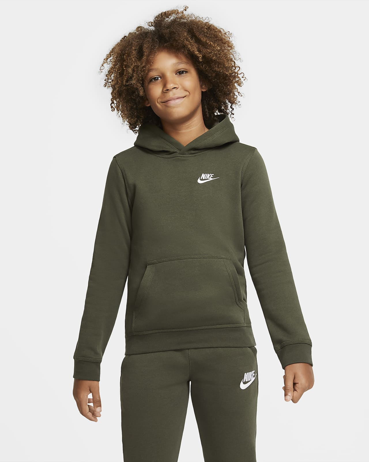 Sudadera Con Capucha Sin Cierre Para Nino Talla Grande Nike Sportswear Club Nike Com
