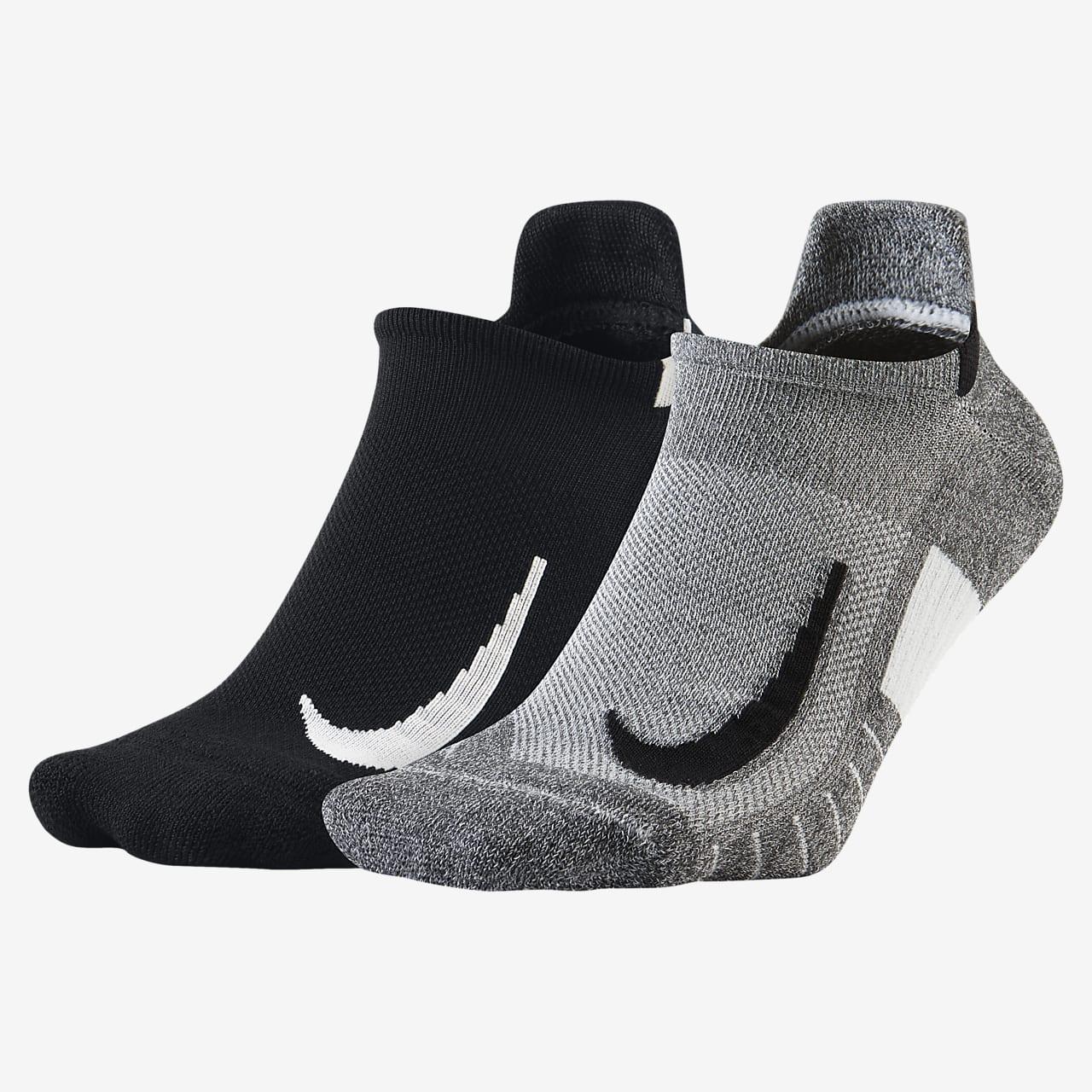 Nike Multiplier Running No-Show Socks (2 Pairs)