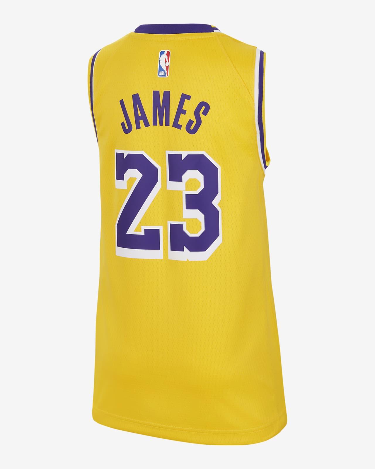 Atmungsaktive Und Abriebfeste Jungen M/änner Fans Trikot Basketballspieler-Trikot Angel ZYJ Lebron James Trikot NO.23 Retro Lakers