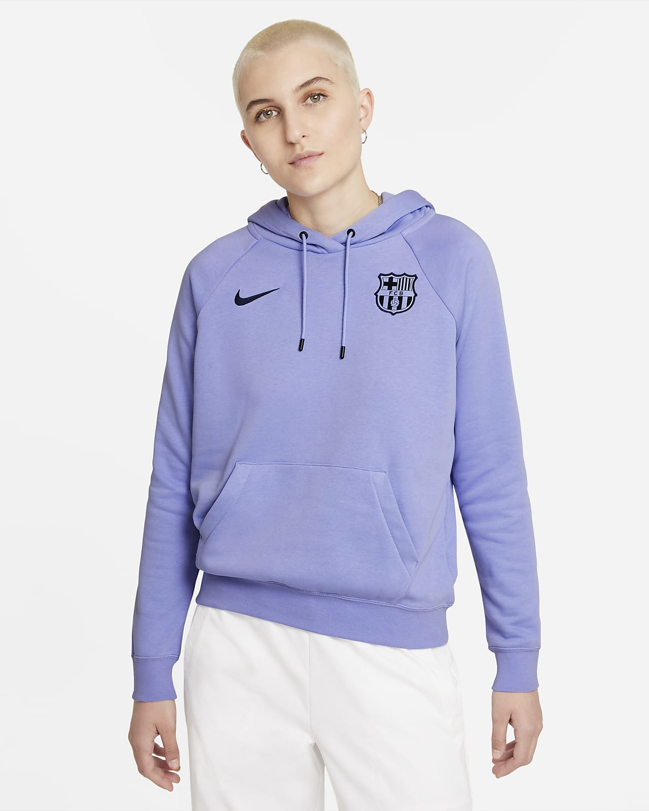F.C. Barcelona Women's Fleece Pullover Hoodie