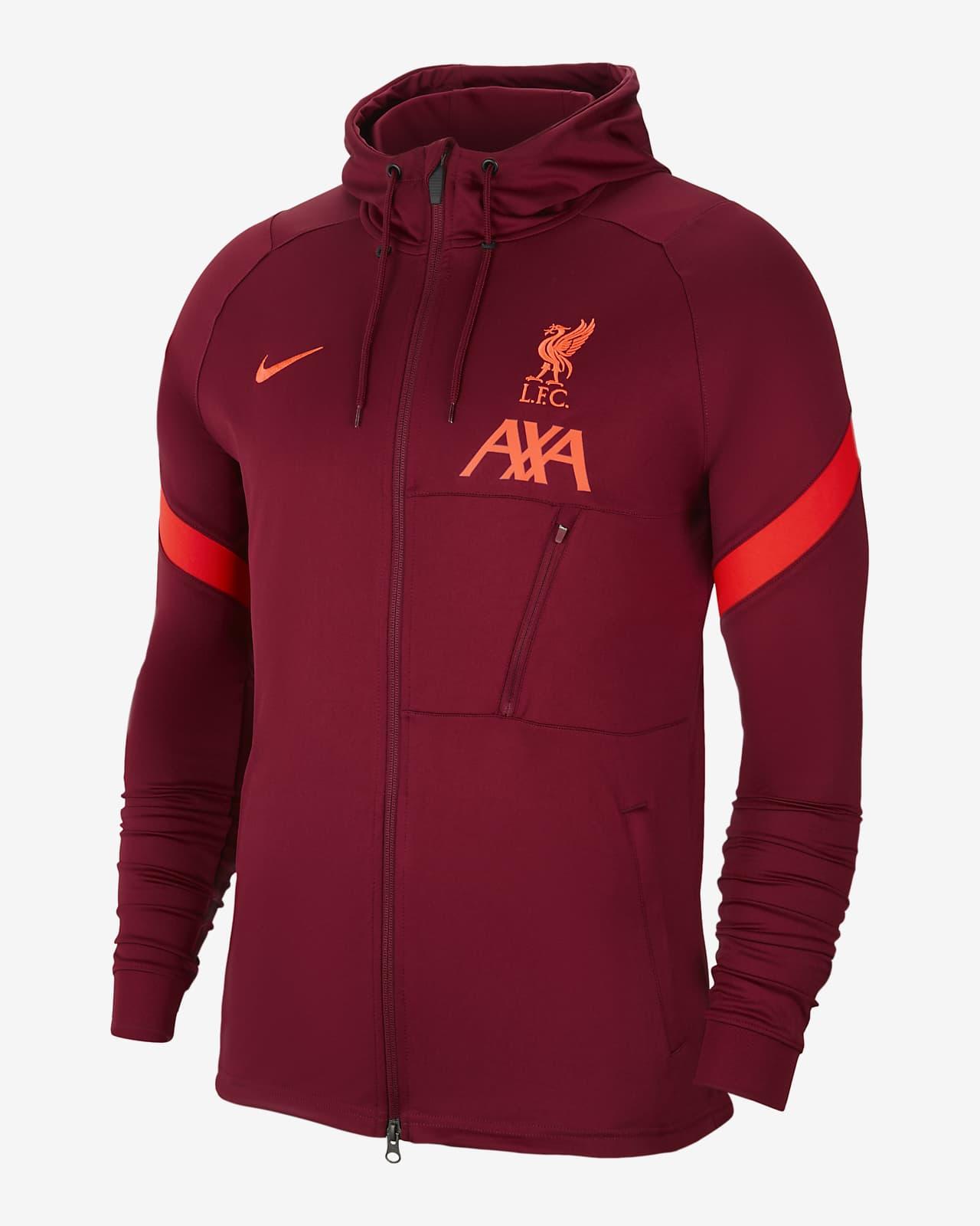 Veste de survêtement de football en maille Liverpool FC Strike pour Homme