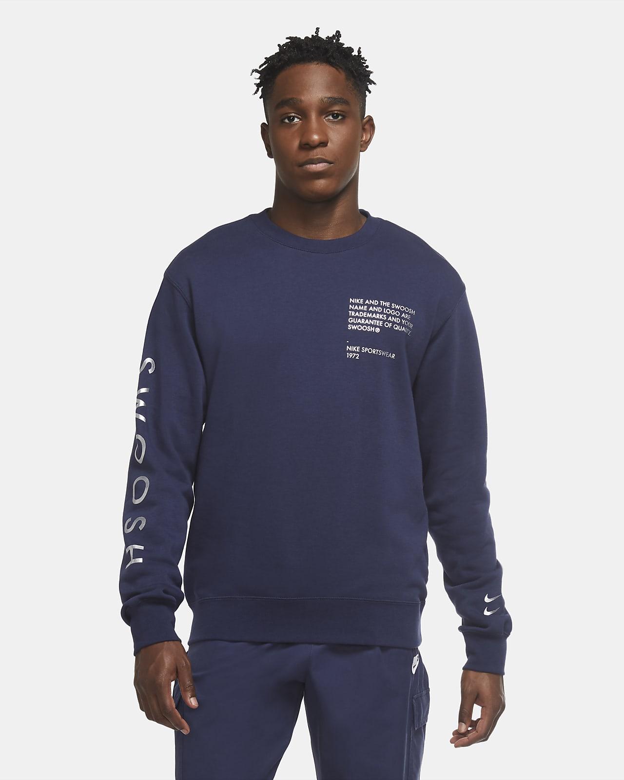 Tröja med rundad hals Nike Sportswear Swoosh för män
