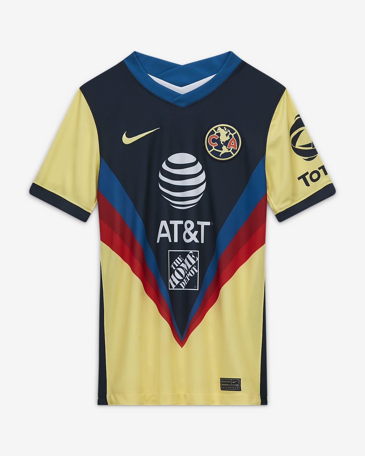 Camiseta de fútbol de local para niños talla grande Stadium del Club América 2020/21