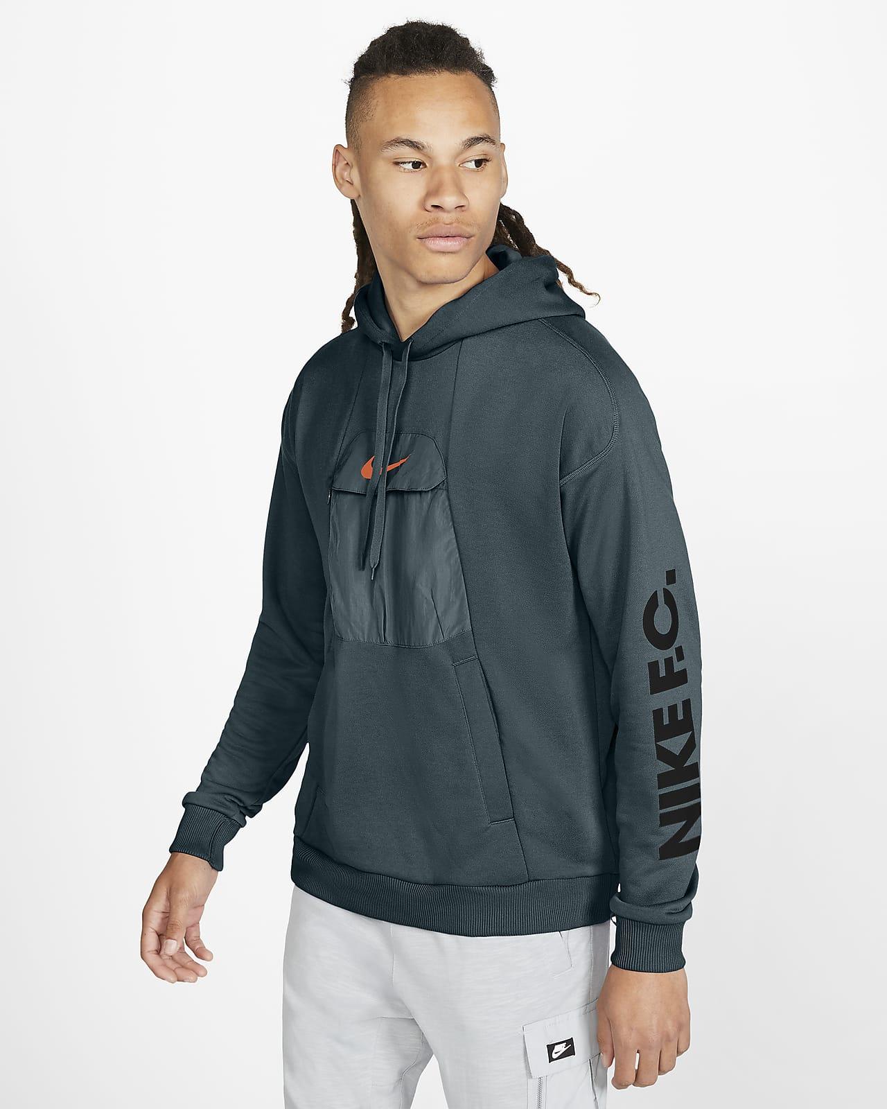 Pánská fotbalová mikina Nike F.C. s kapucí