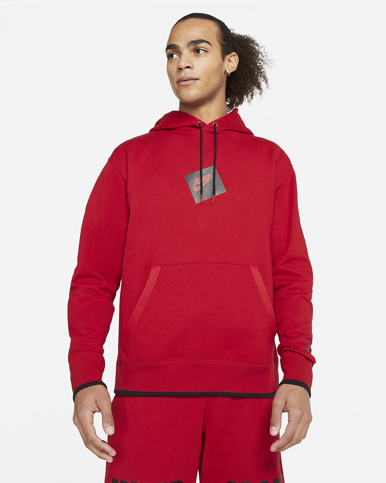 Felpa pullover in fleece con cappuccio e stampa Jordan Jumpman Classics - Uomo