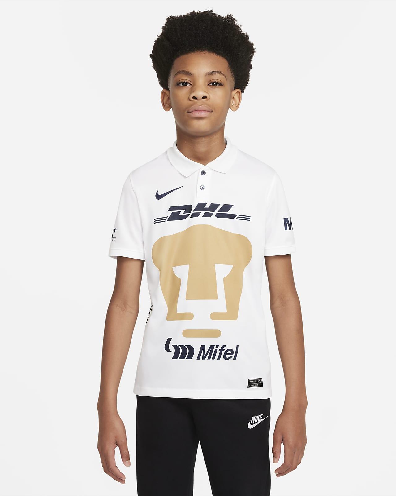 Jersey de fútbol Nike Dri-FIT de Pumas UNAM local 2021/22 Stadium para niños talla grande