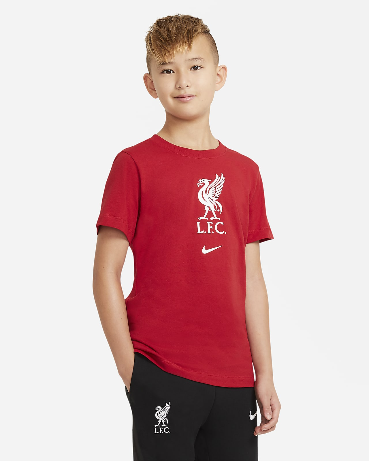 Liverpool F.C. Older Kids' Football T-Shirt