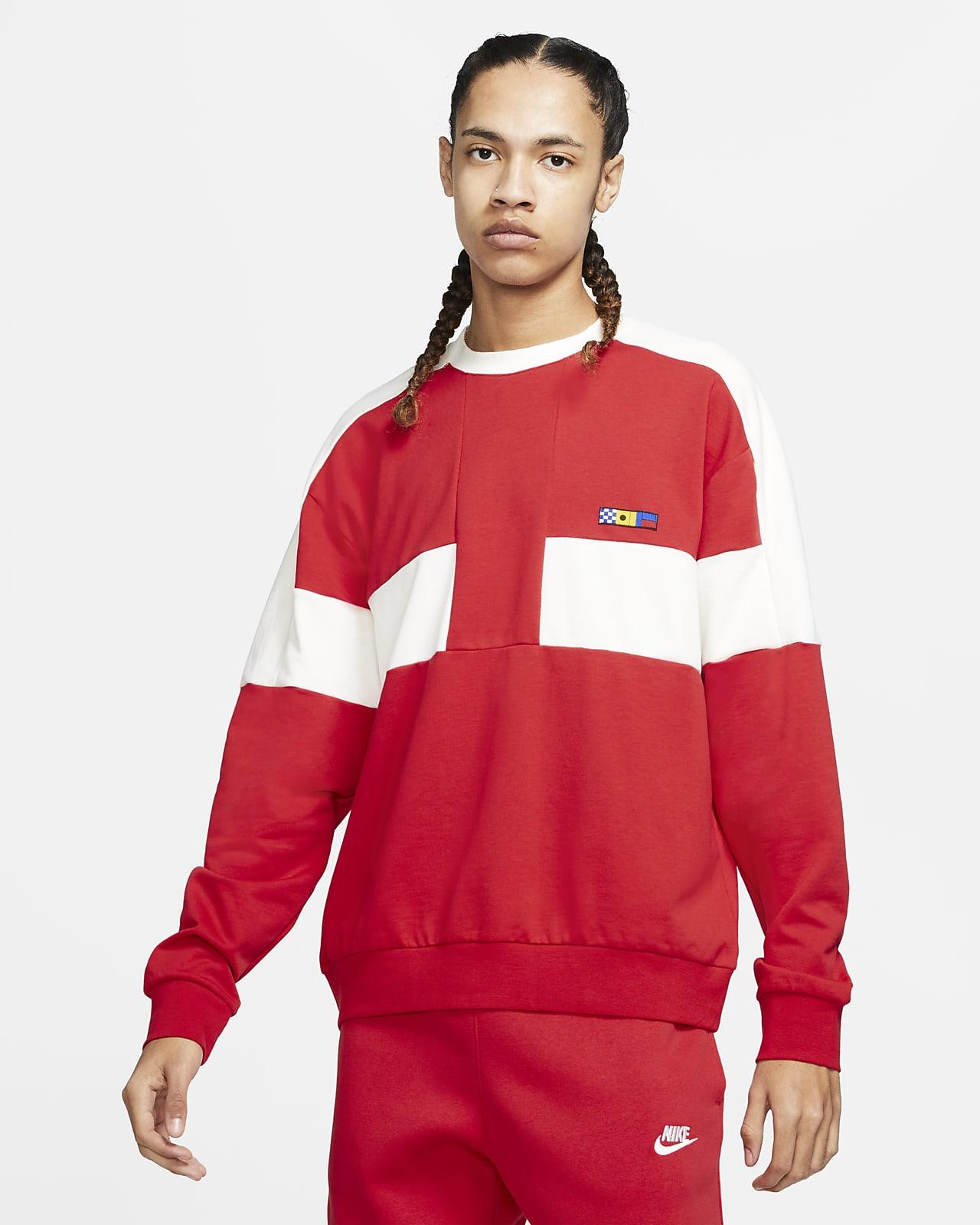 Nike Sportswear Reissue Men S French Terry Crew Nike Lu [ 1600 x 1280 Pixel ]