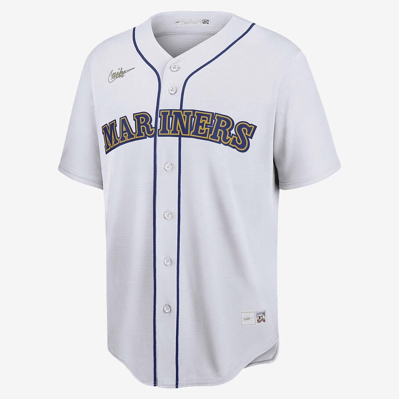MLB Seattle Mariners (Edgar Martinez) Men's Cooperstown Baseball Jersey