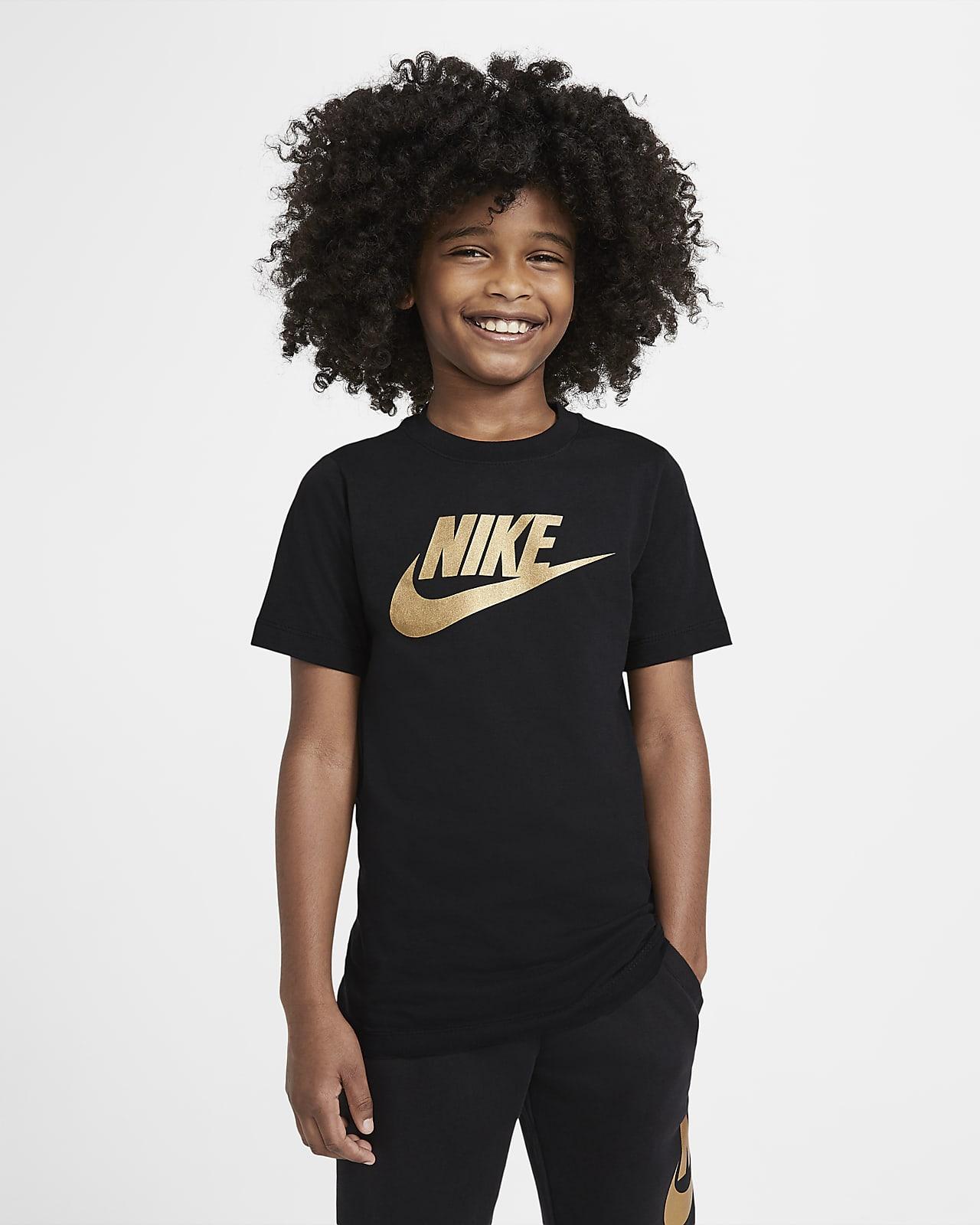 Хлопковая футболка для школьников Nike Sportswear