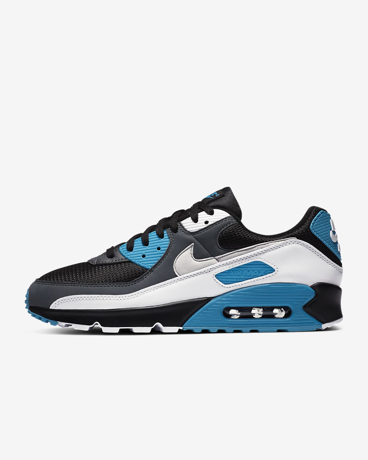 air max 90 blue grey white