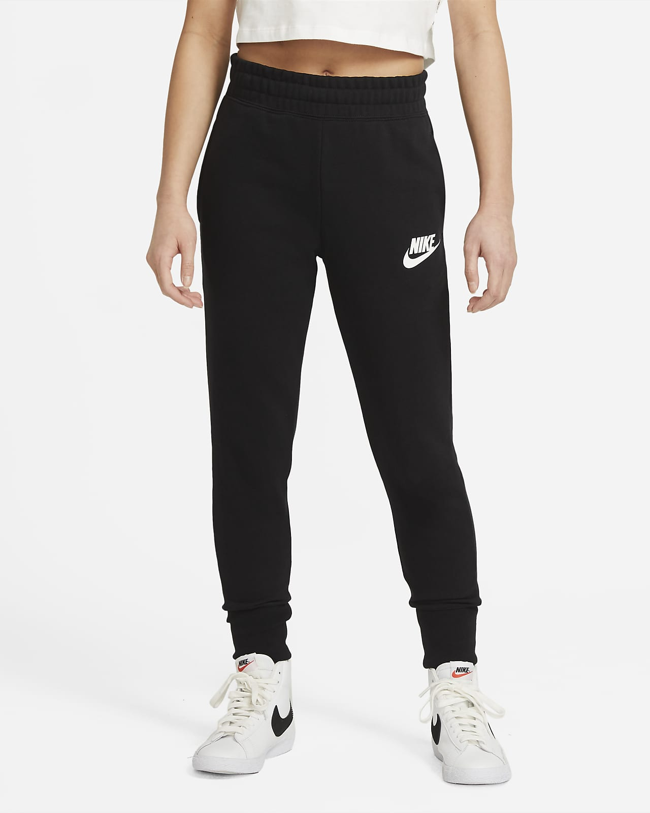 Byxor i frotté Nike Sportswear Club för ungdom (tjejer)