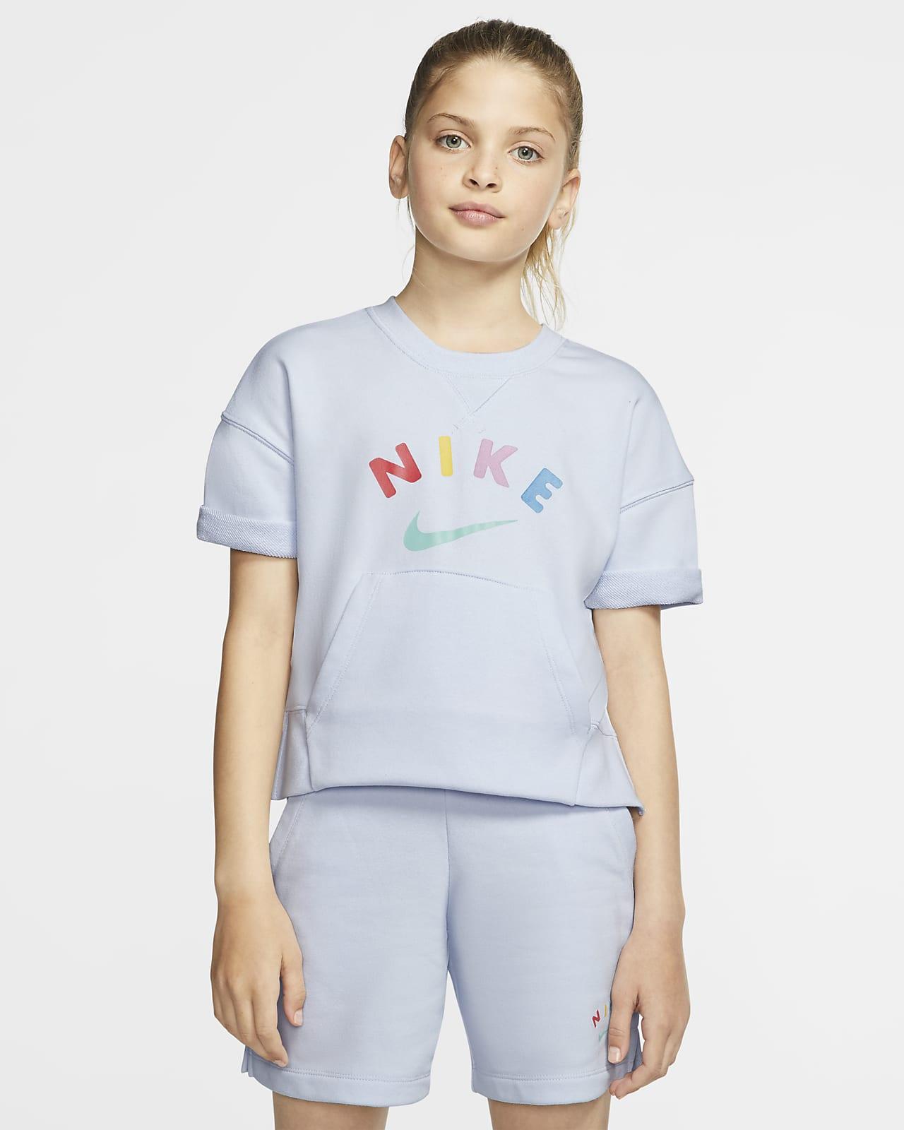 เสื้อคอกลมเด็กโต (หญิง) Nike Sportswear