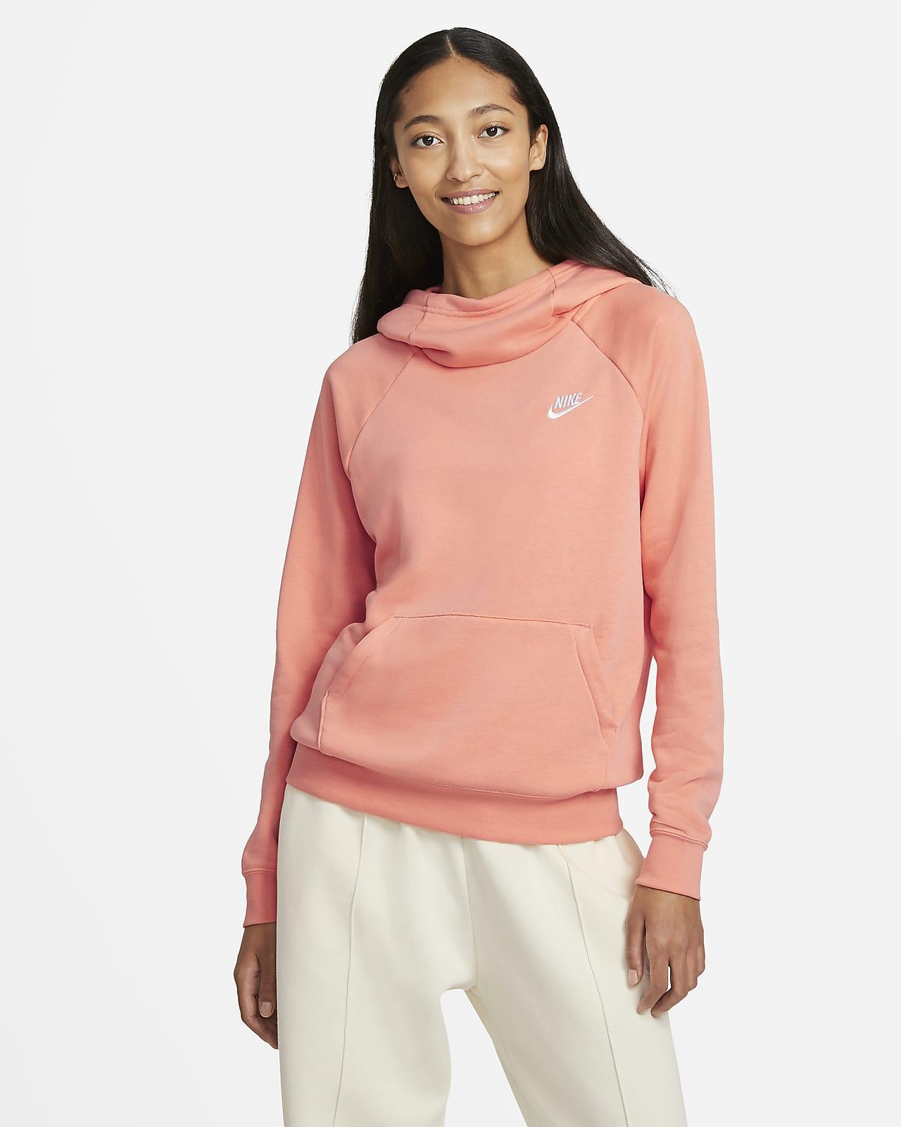 Nike Sportswear Essential Women S Funnel Neck Fleece Pullover Hoodie Nike Com [ 1600 x 1280 Pixel ]