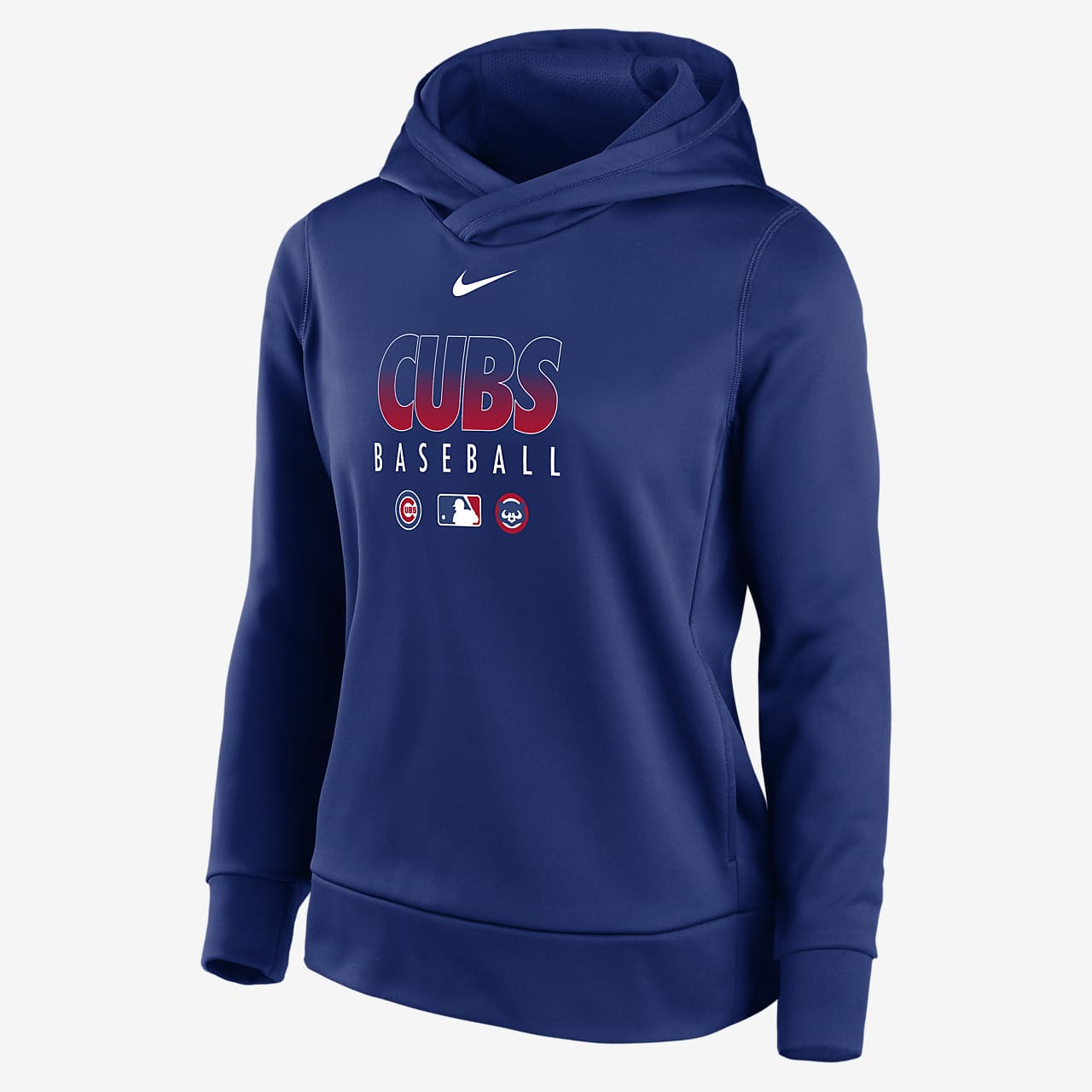 Nike Therma (MLB Chicago Cubs) Women's Pullover Hoodie